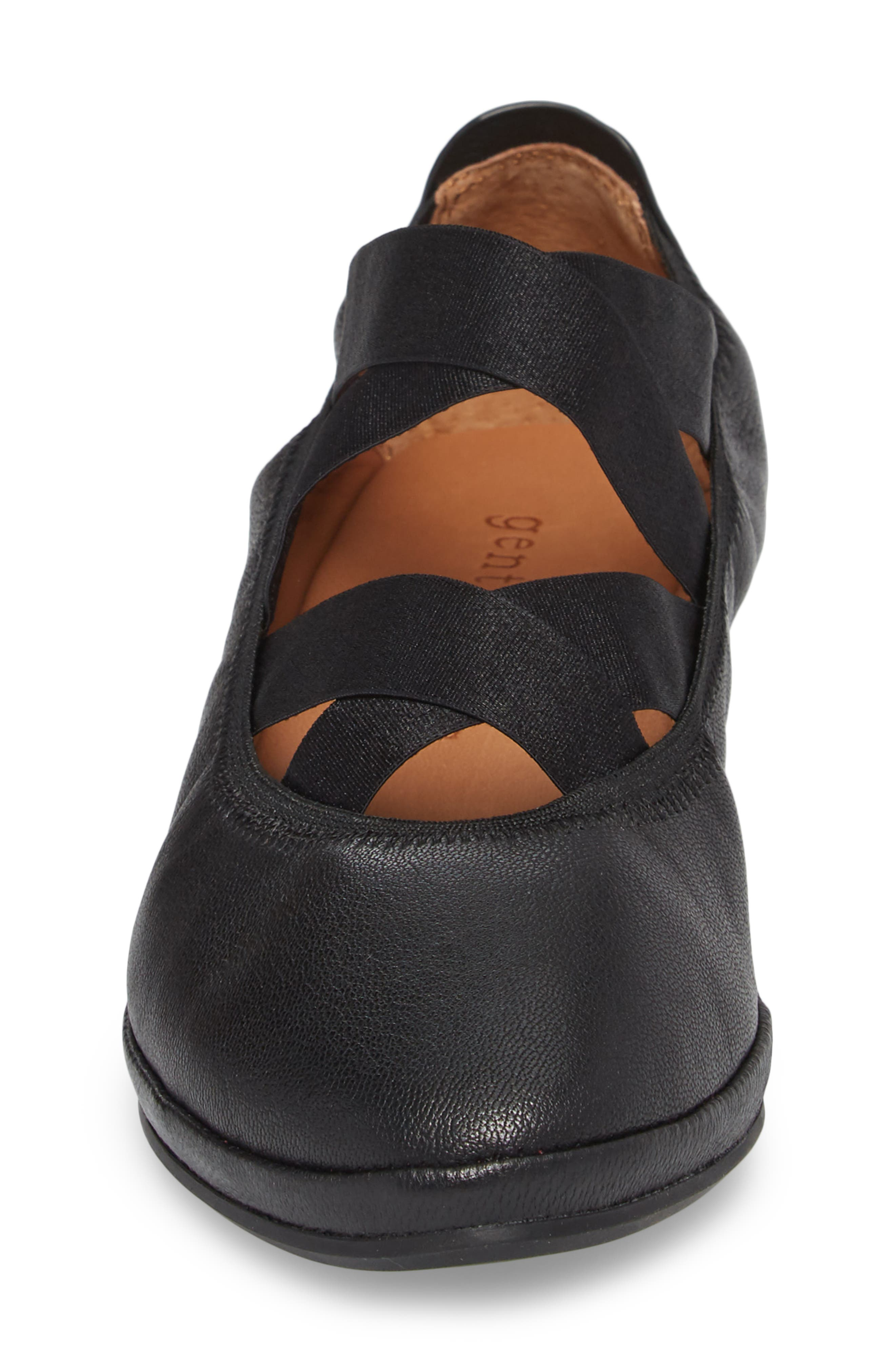 by Kenneth Cole Natalie Ballet Wedge,                             Alternate thumbnail 4, color,                             BLACK LEATHER