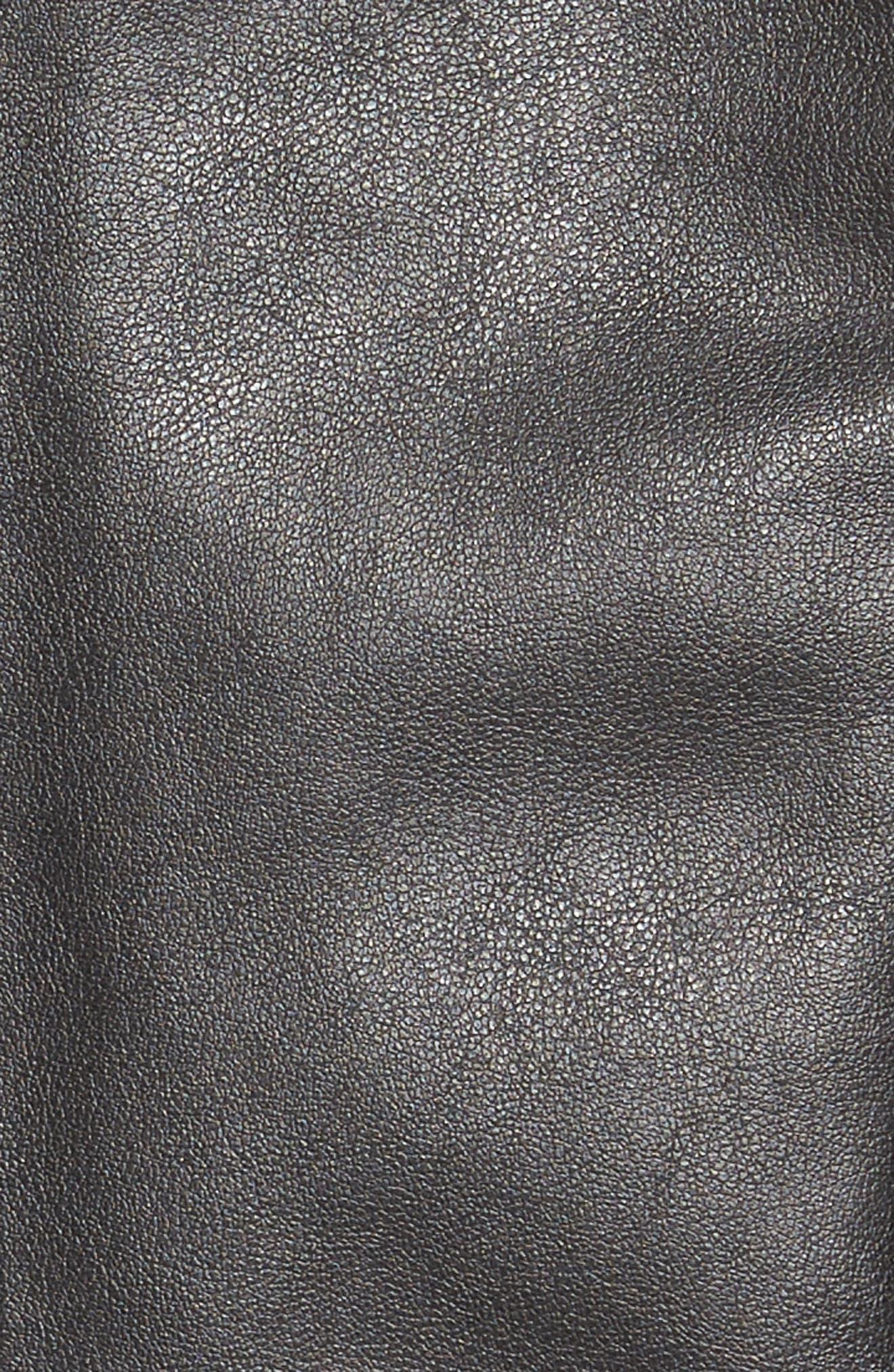 'Peppin' Drape Front Faux Leather Jacket,                             Alternate thumbnail 47, color,