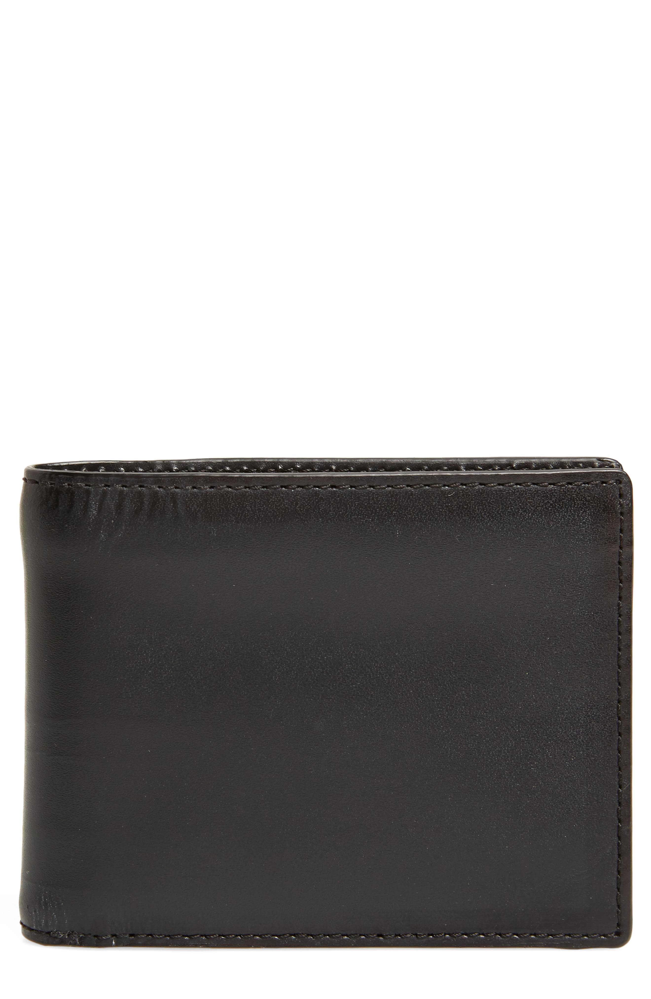 Bifold Leather Wallet,                         Main,                         color,