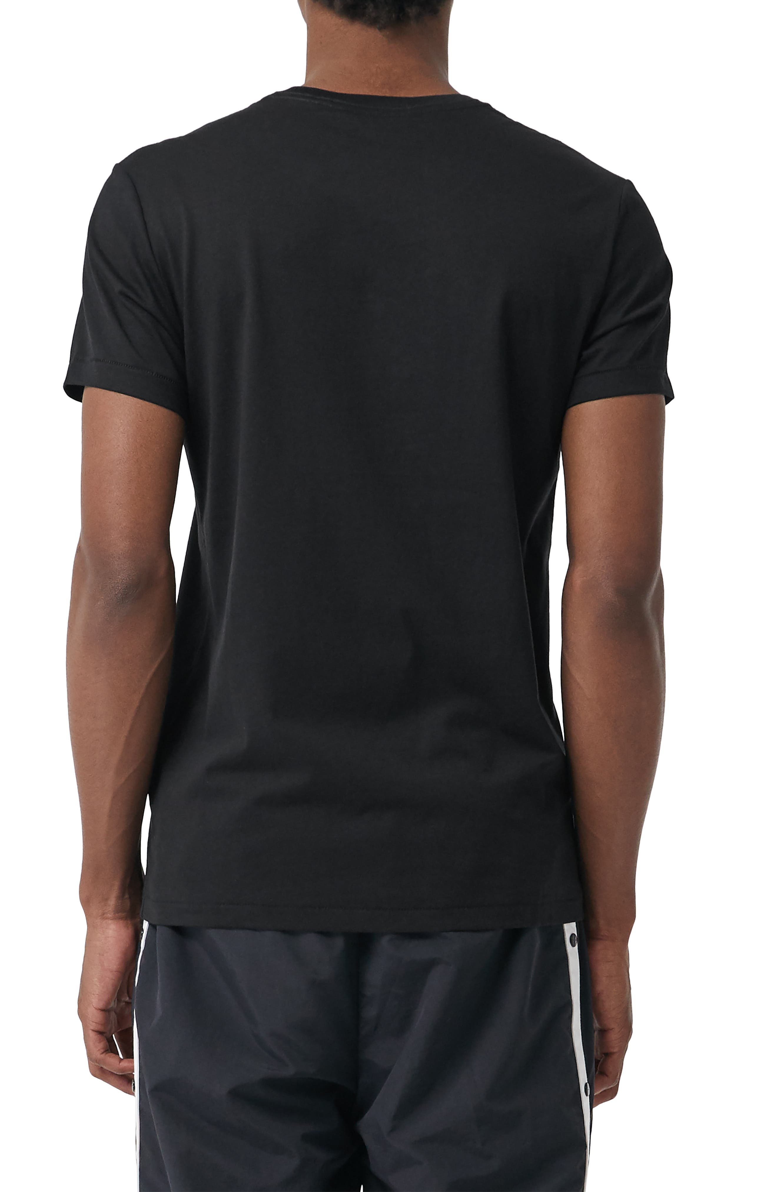Logo Embroidered Crewneck T-shirt.,                             Alternate thumbnail 2, color,                             TRUE BLACK