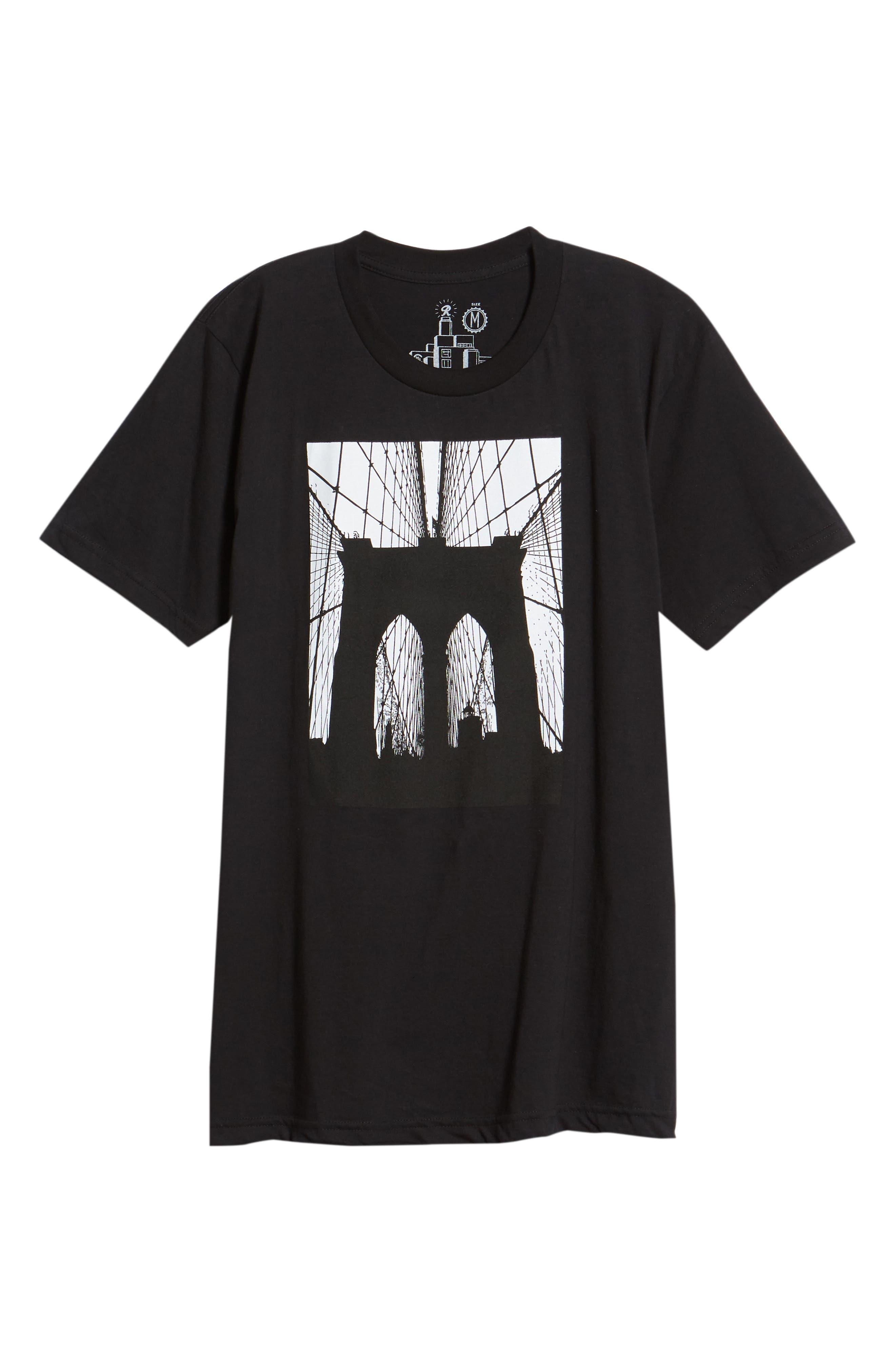 Brooklyn Bridge Graphic T-Shirt,                             Alternate thumbnail 11, color,