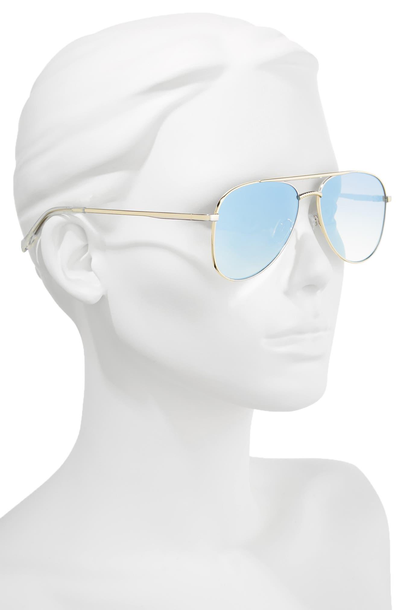 Kingdom 57mm Polarized Aviator Sunglasses,                             Alternate thumbnail 5, color,