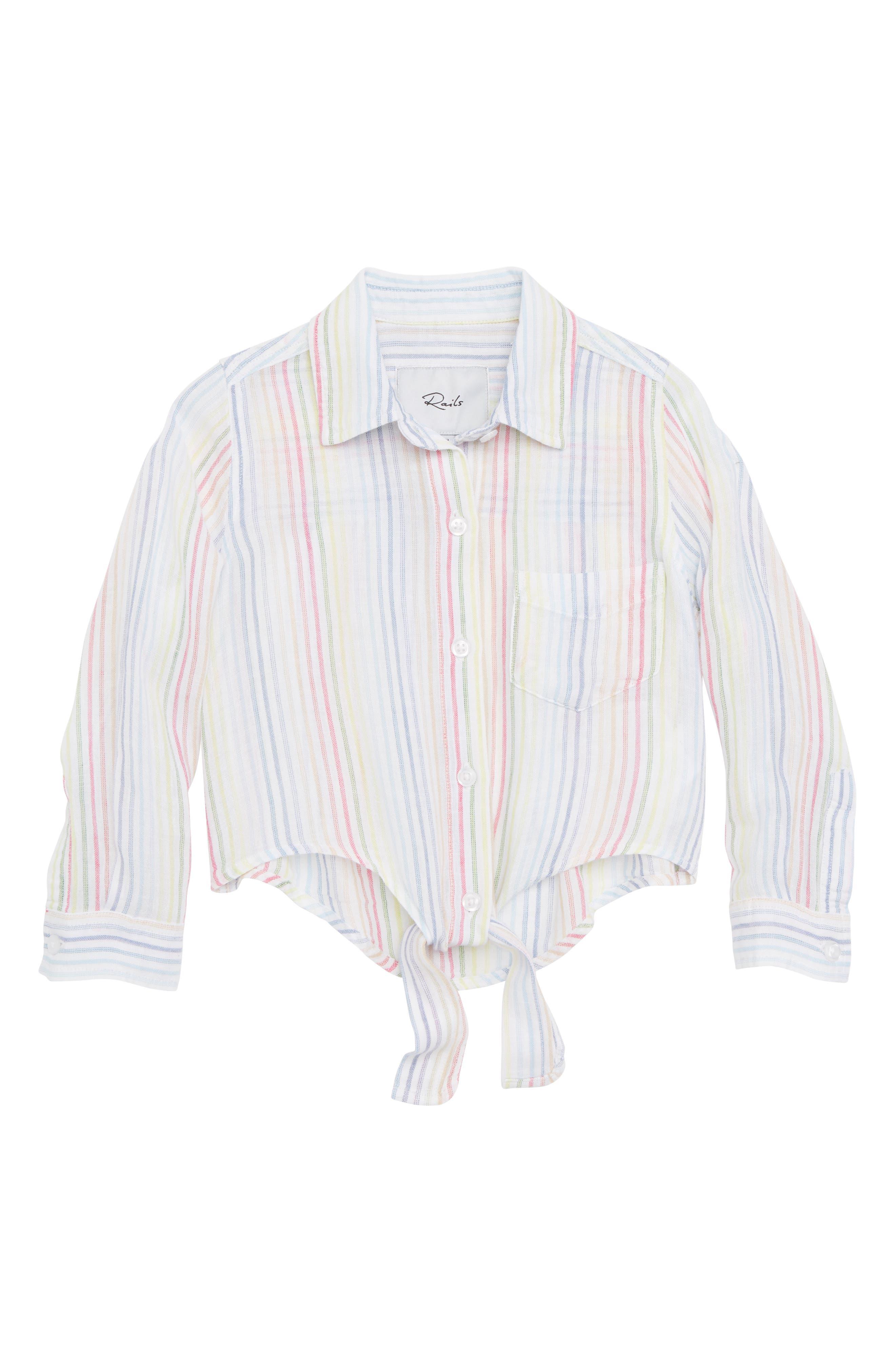 Valerie Tie Front Shirt,                         Main,                         color, 105