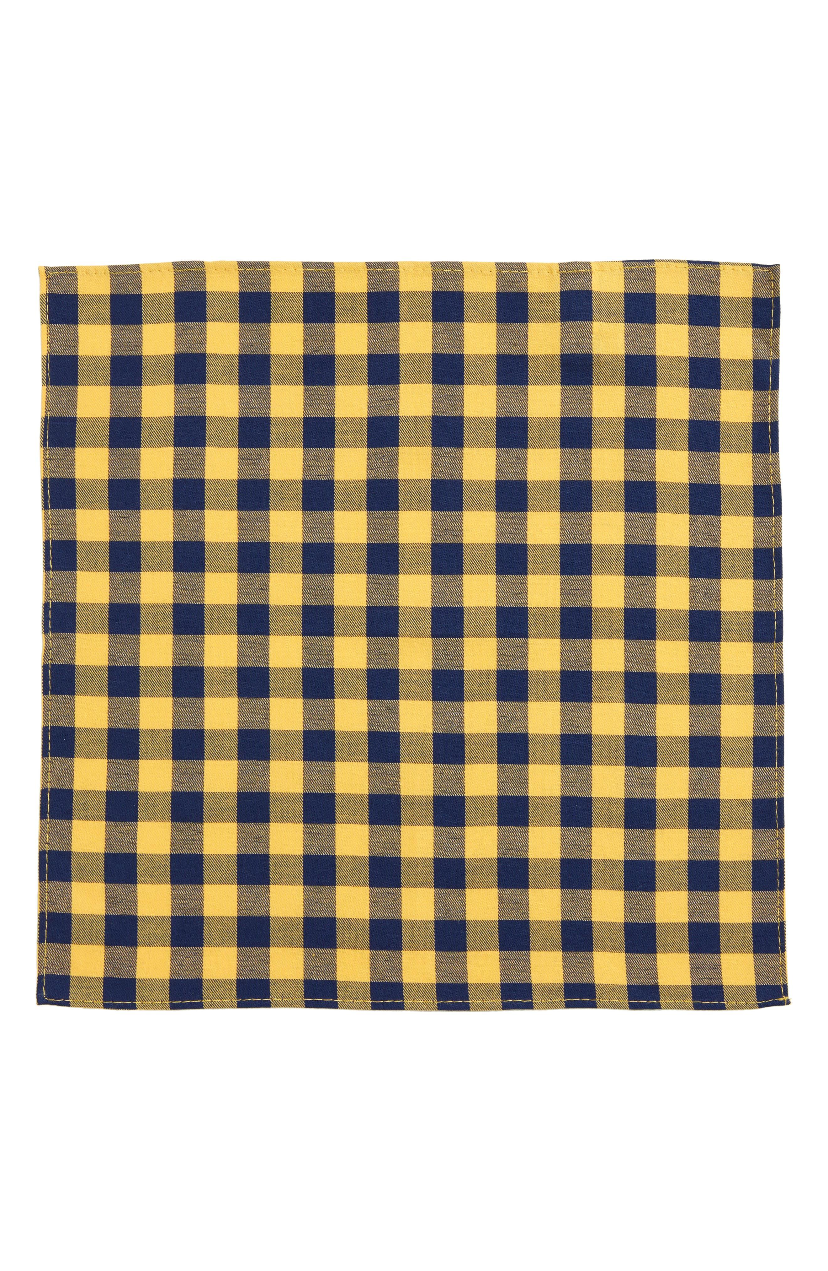 Buffalo Check Cotton Pocket Square,                             Alternate thumbnail 2, color,                             715