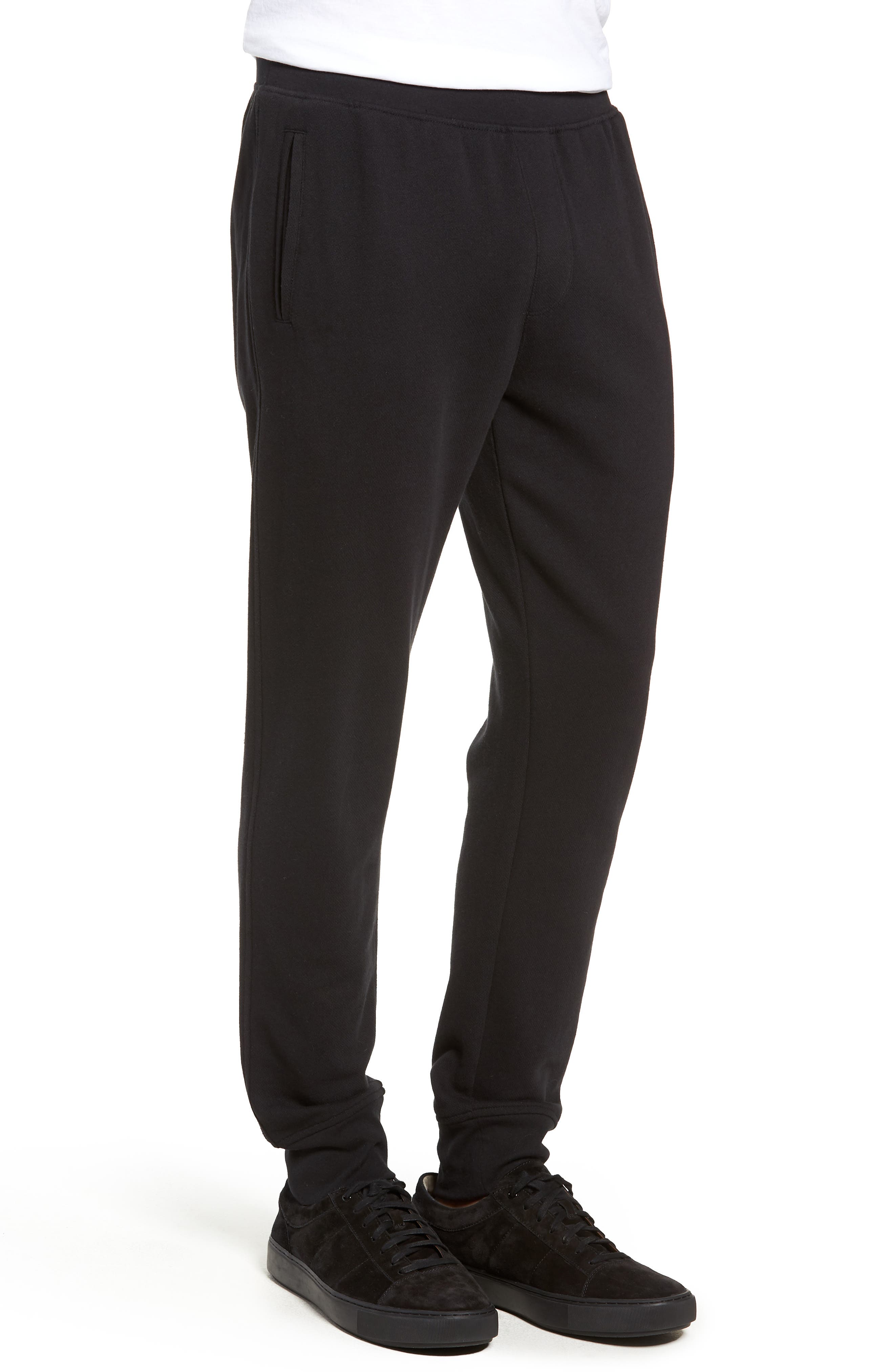 French Terry Long Board Pants,                             Alternate thumbnail 3, color,                             001