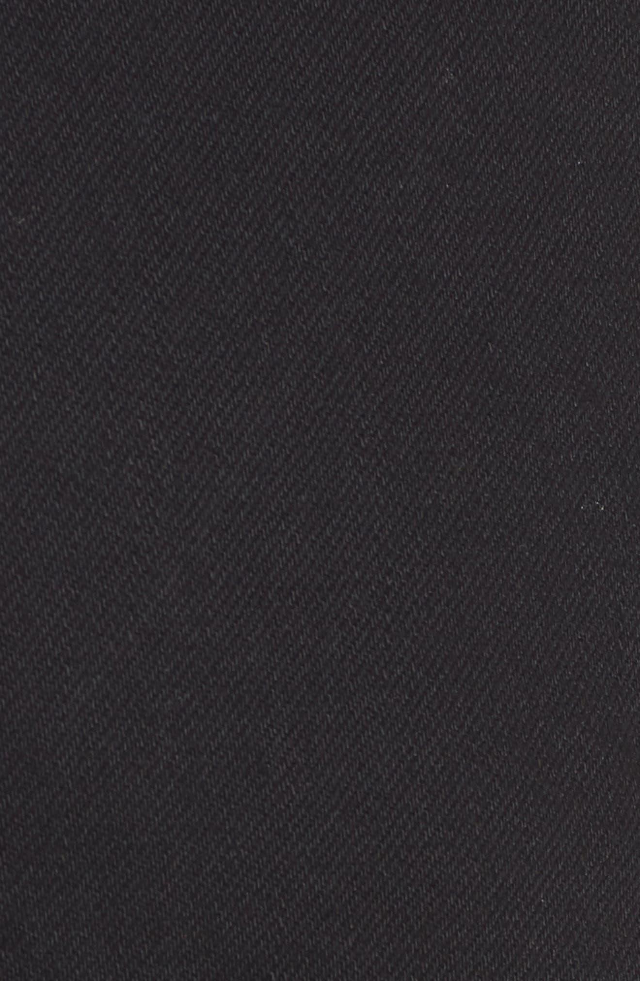 Mavi Pixie Roll Cuff Denim Shorts,                             Alternate thumbnail 5, color,                             BLACK NOLITA