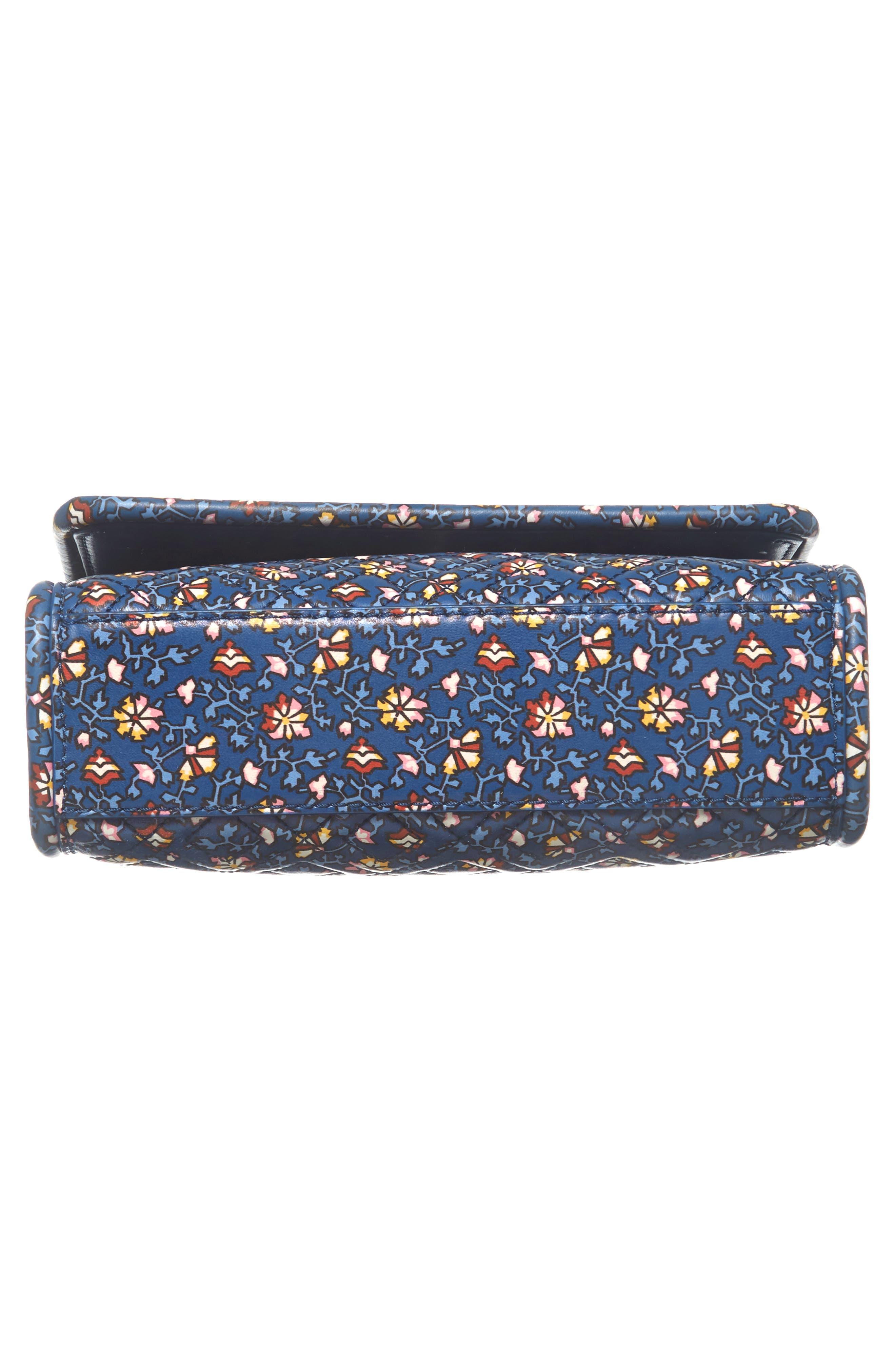 Fleming Print Leather Convertible Shoulder Bag,                             Alternate thumbnail 6, color,                             BLUE WILD PANSY