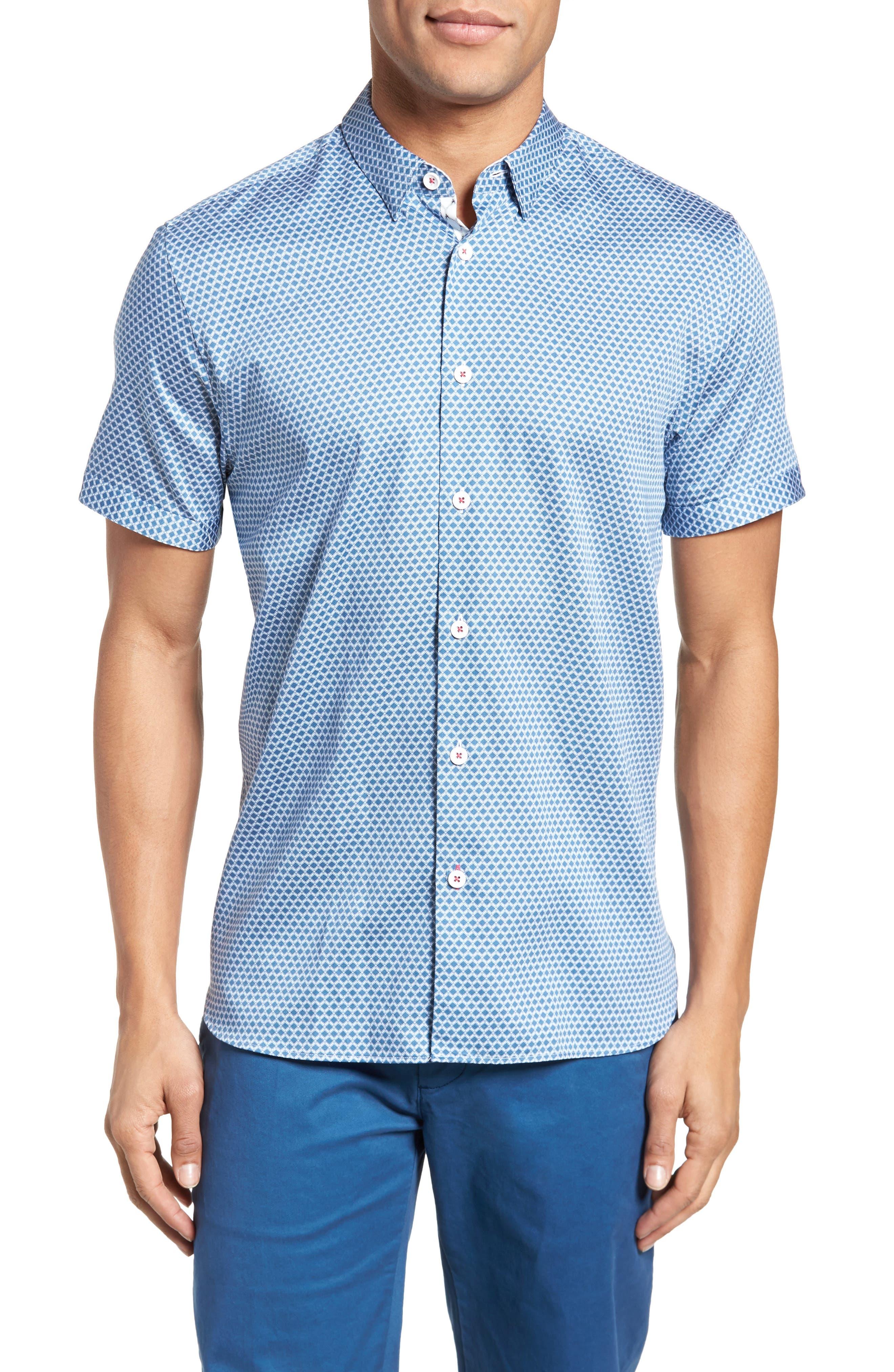 Gudvutt Short Sleeve Sport Shirt,                             Main thumbnail 1, color,                             400