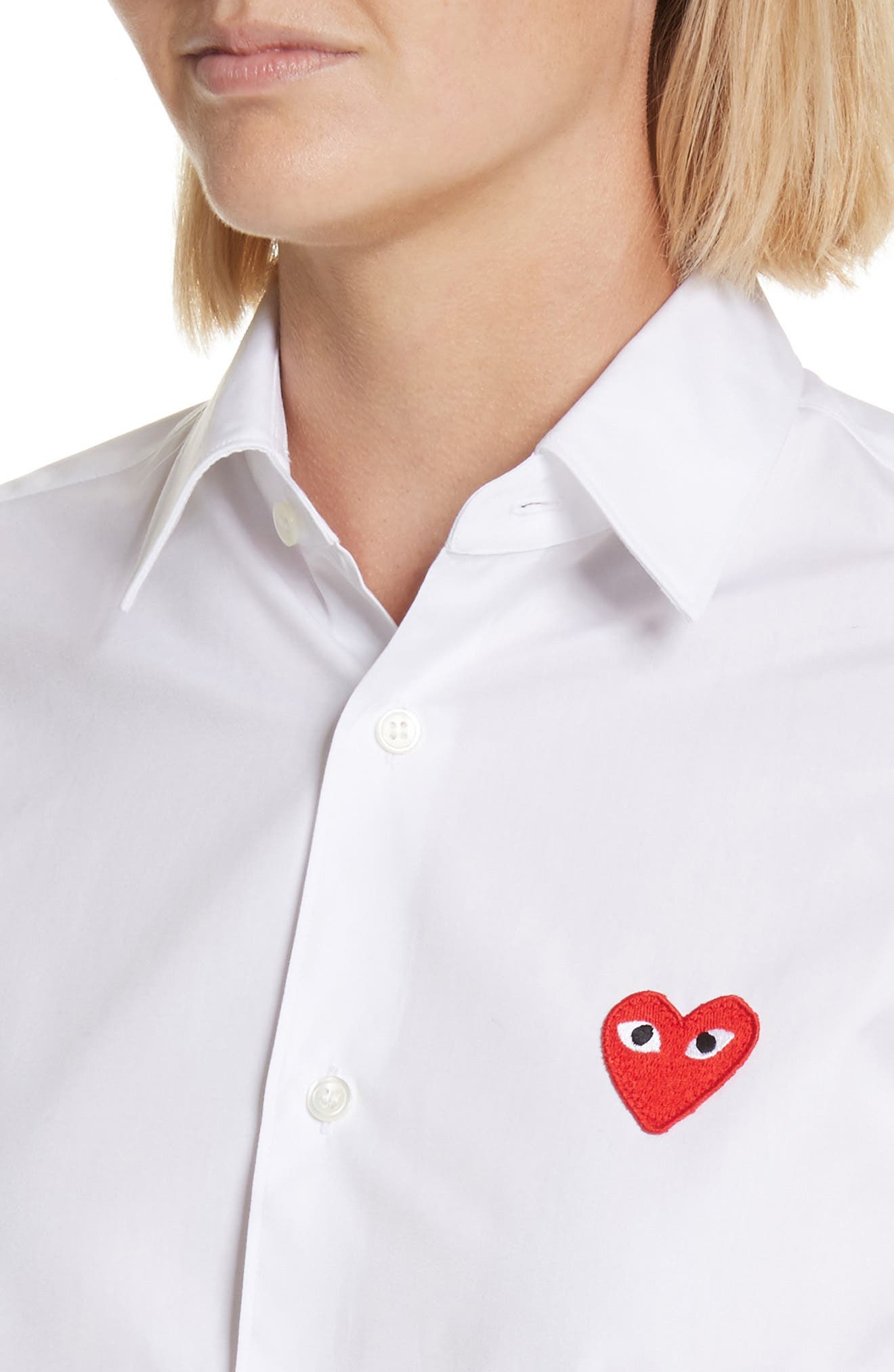 PLAY Red Heart Cotton Shirt,                             Alternate thumbnail 4, color,                             100