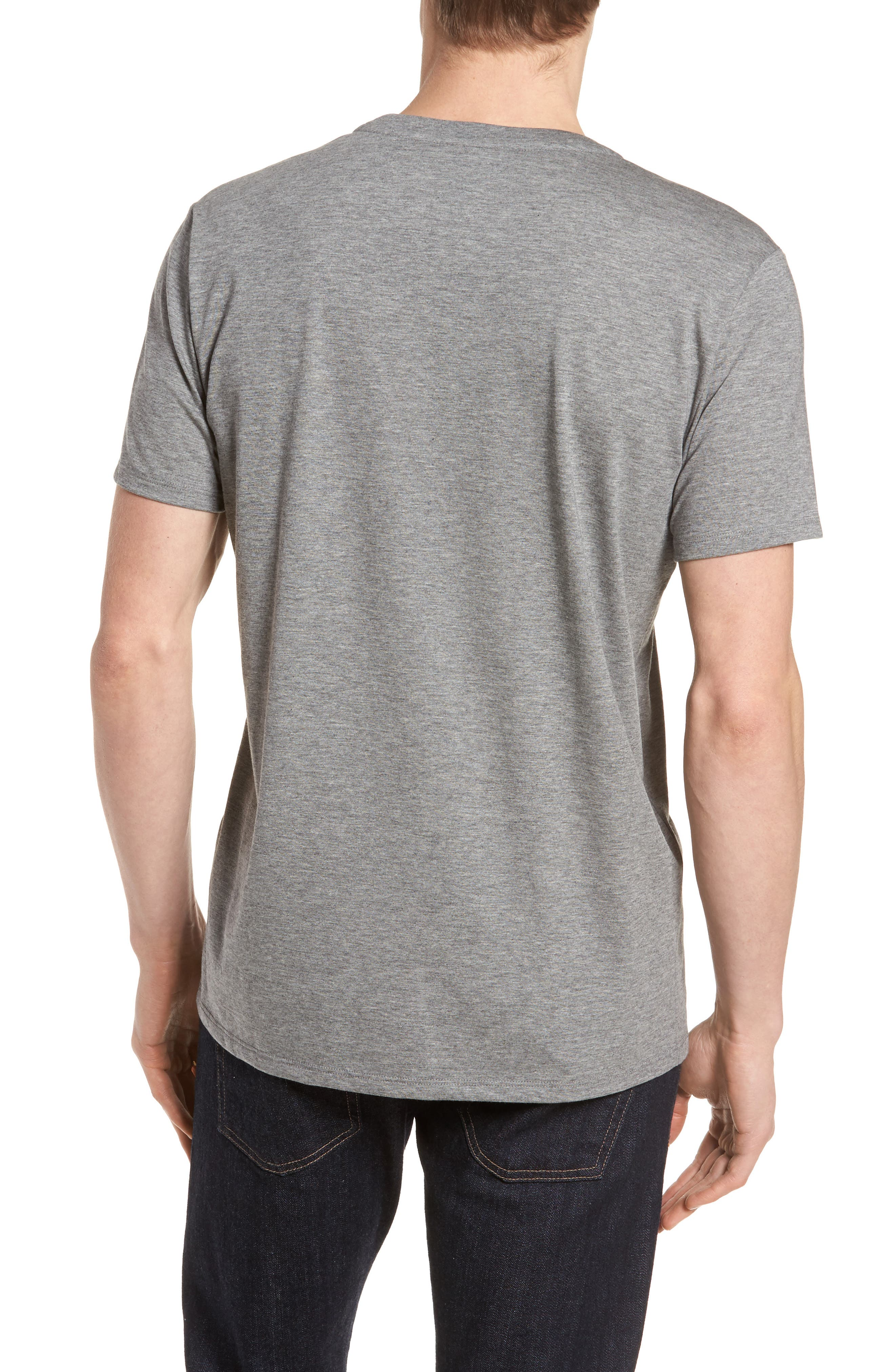 Pima Cotton T-Shirt,                             Alternate thumbnail 2, color,                             GALAXITE CHINE