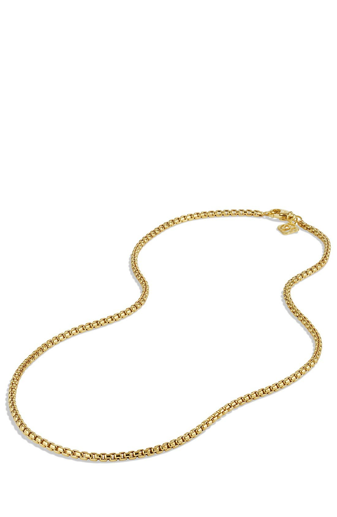 'Chain' Small Box Chain Necklace,                             Alternate thumbnail 3, color,                             GOLD