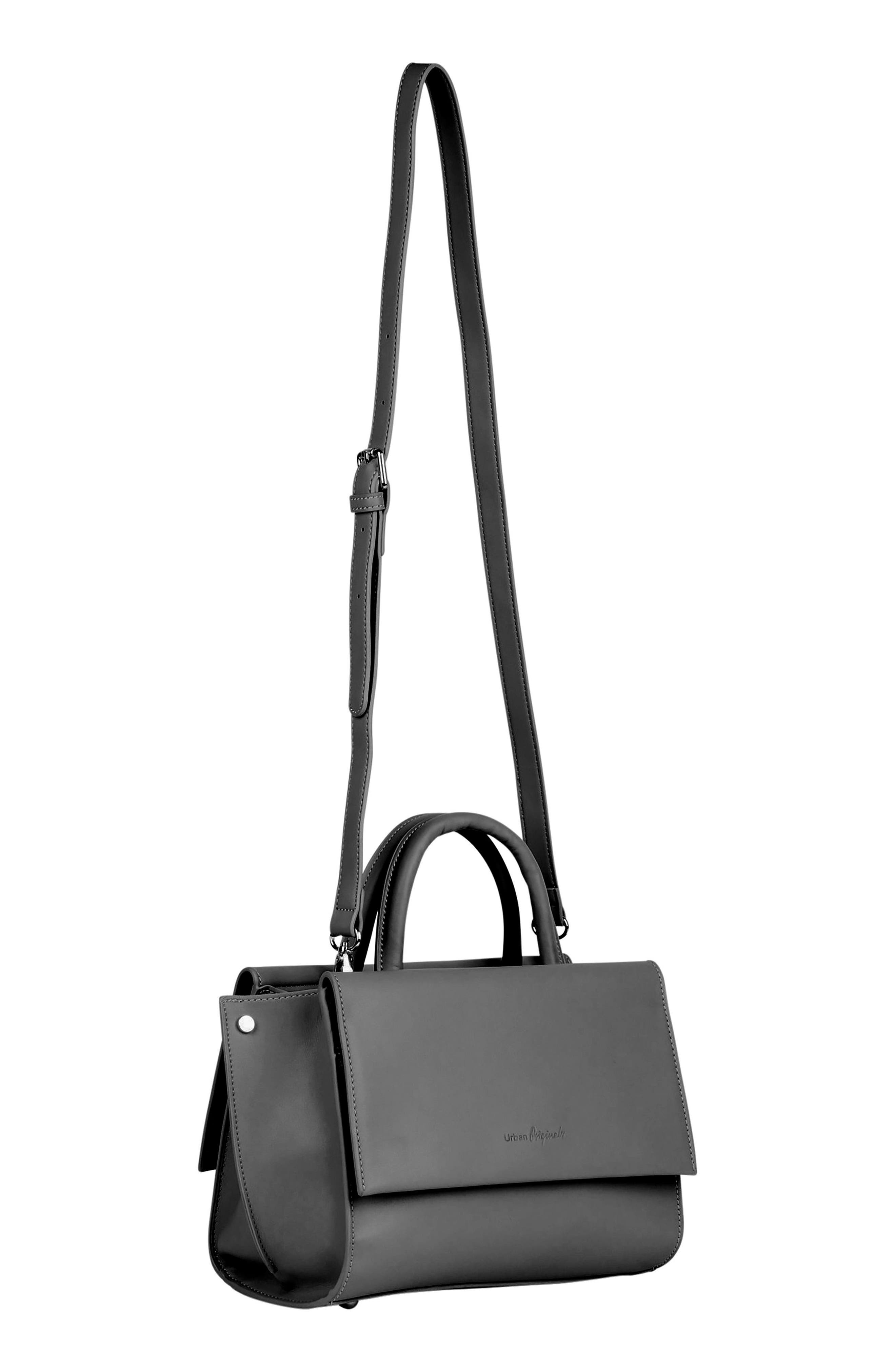Ethereal Vegan Leather Tote,                             Alternate thumbnail 3, color,                             BLACK