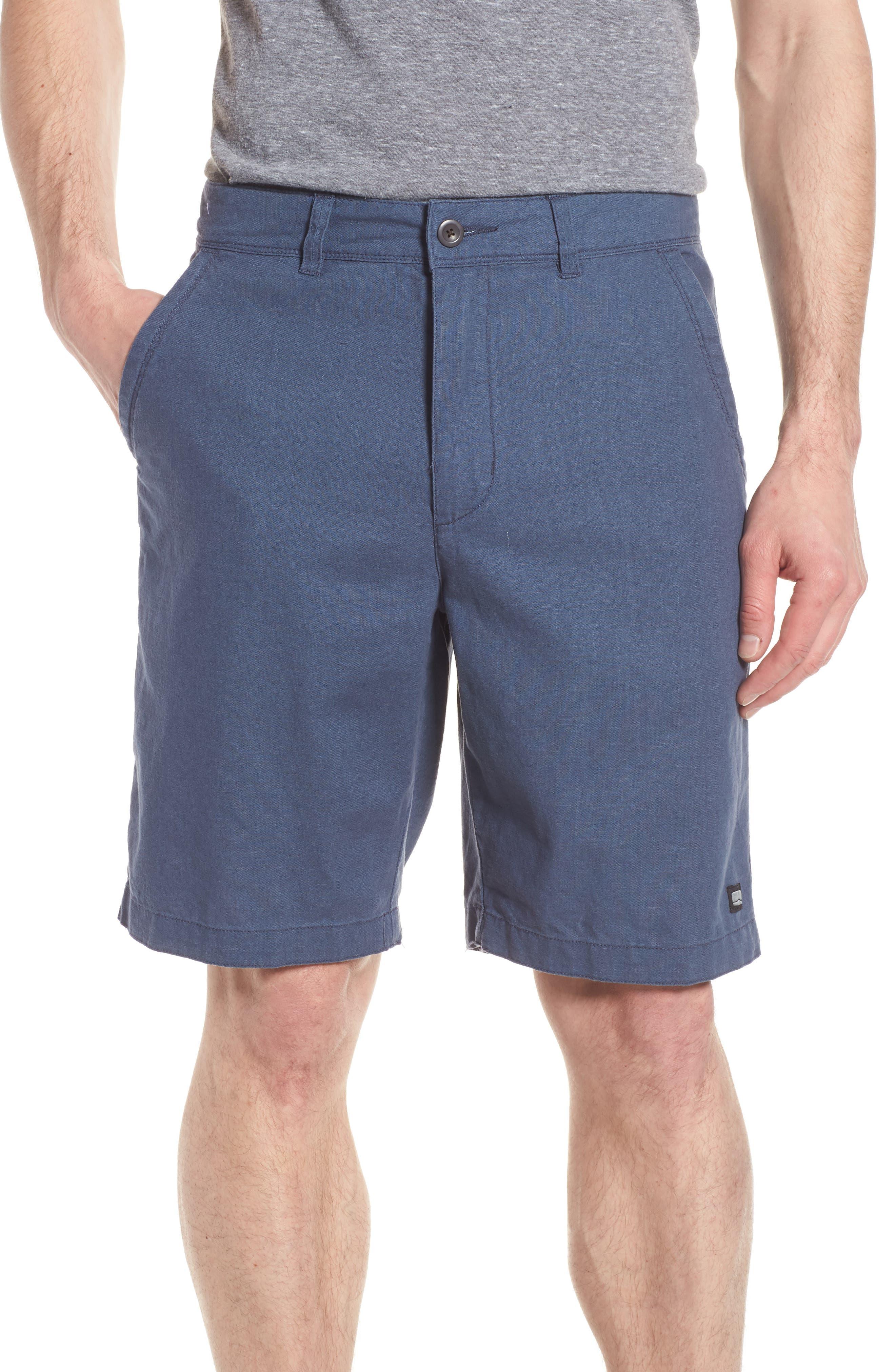 Islander Linen & Cotton Shorts,                             Main thumbnail 1, color,                             410