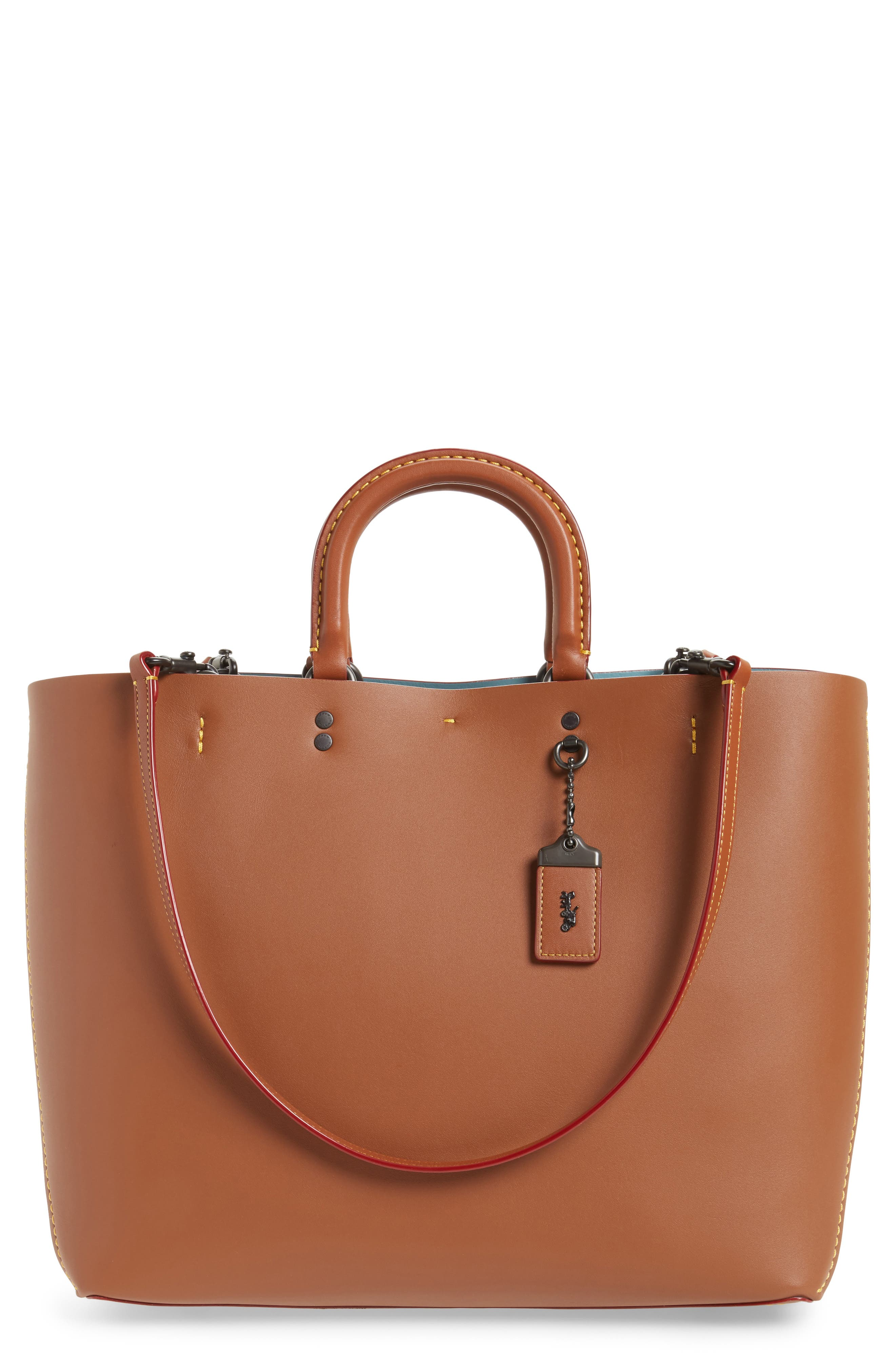 Rogue Leather Tote,                         Main,                         color, 232