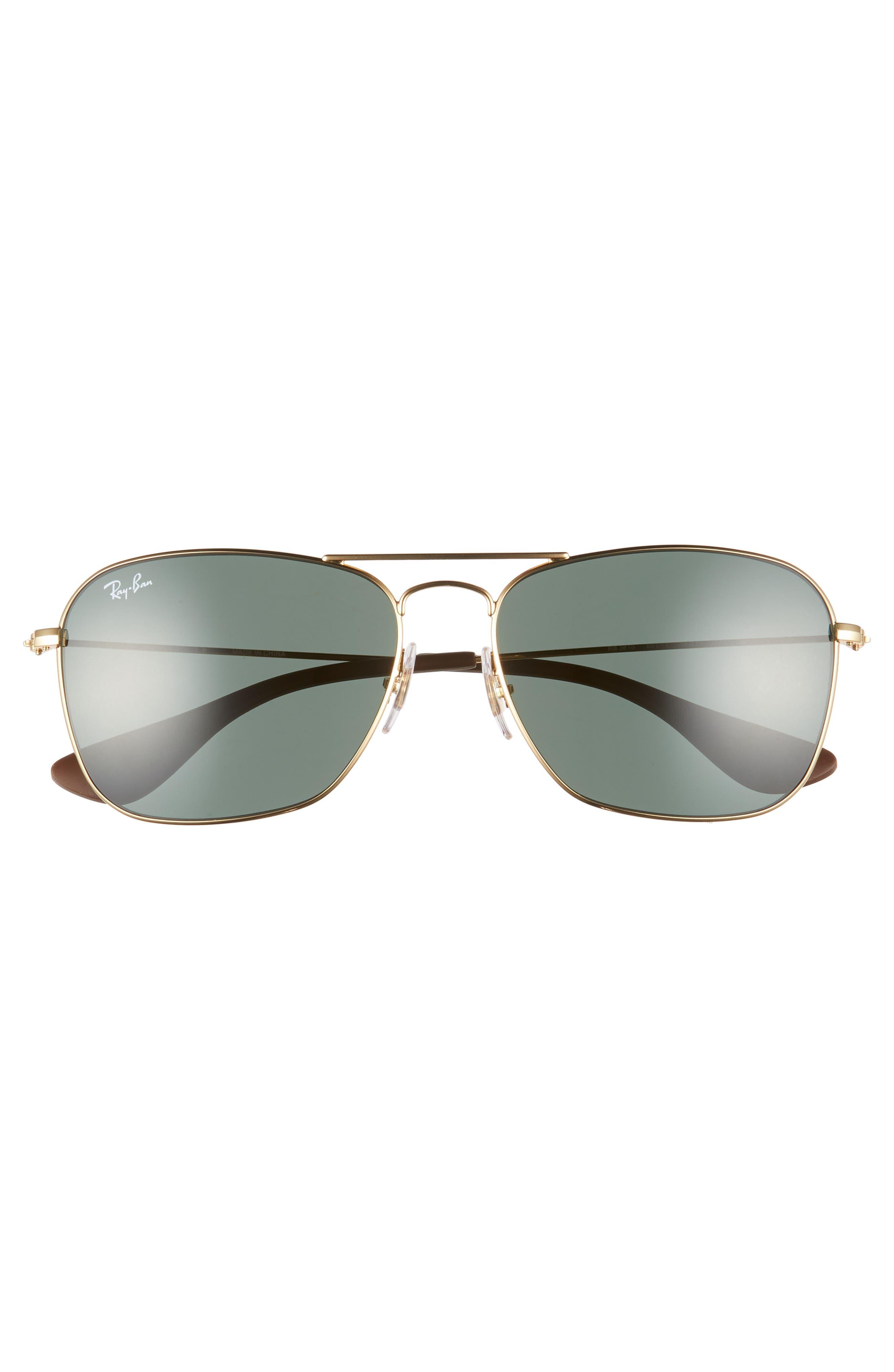 58mm Polarized Navigator Sunglasses,                             Alternate thumbnail 2, color,                             GOLD