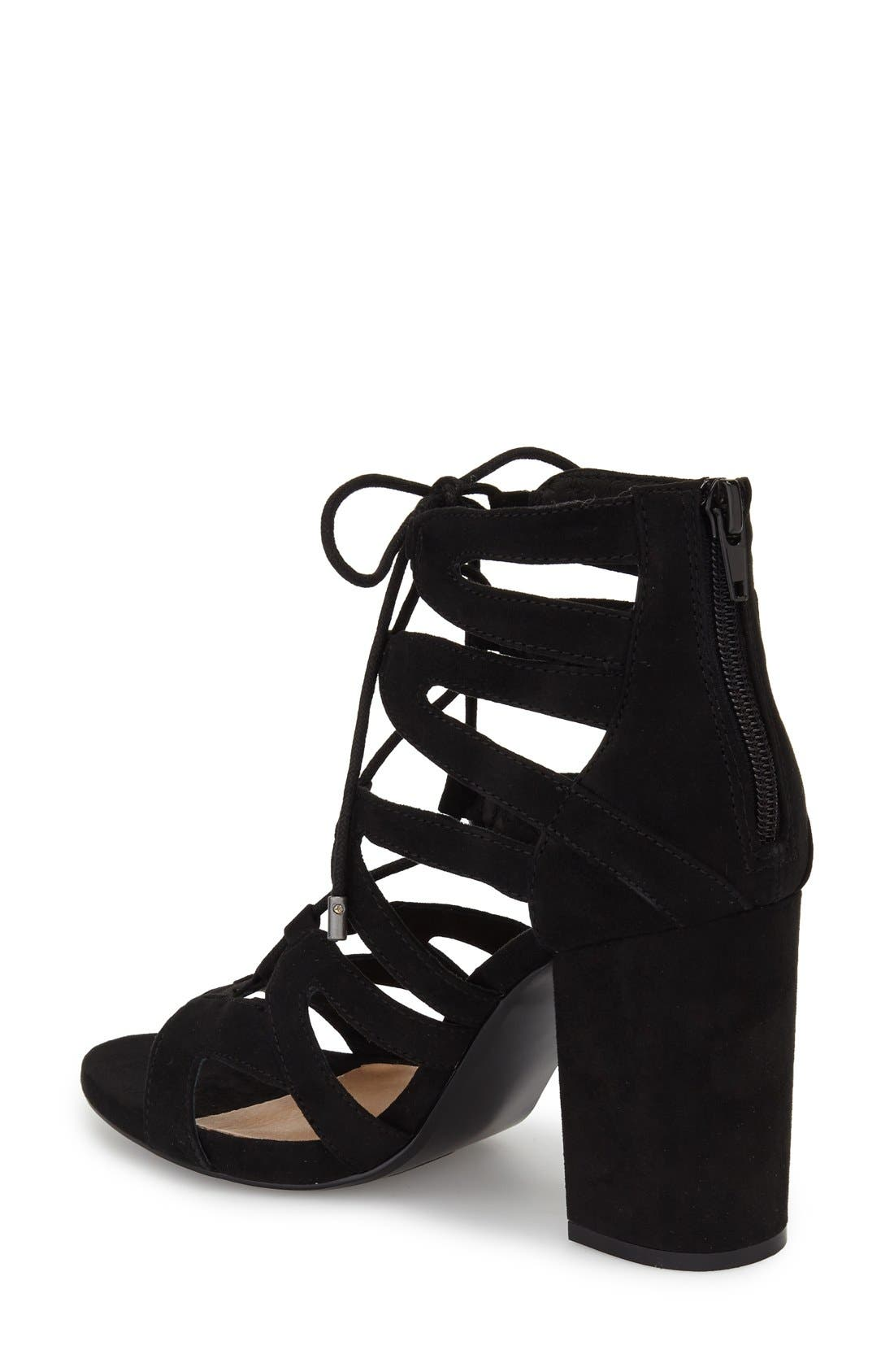 'Gal' Strappy Lace-Up Sandal,                             Alternate thumbnail 2, color,                             019
