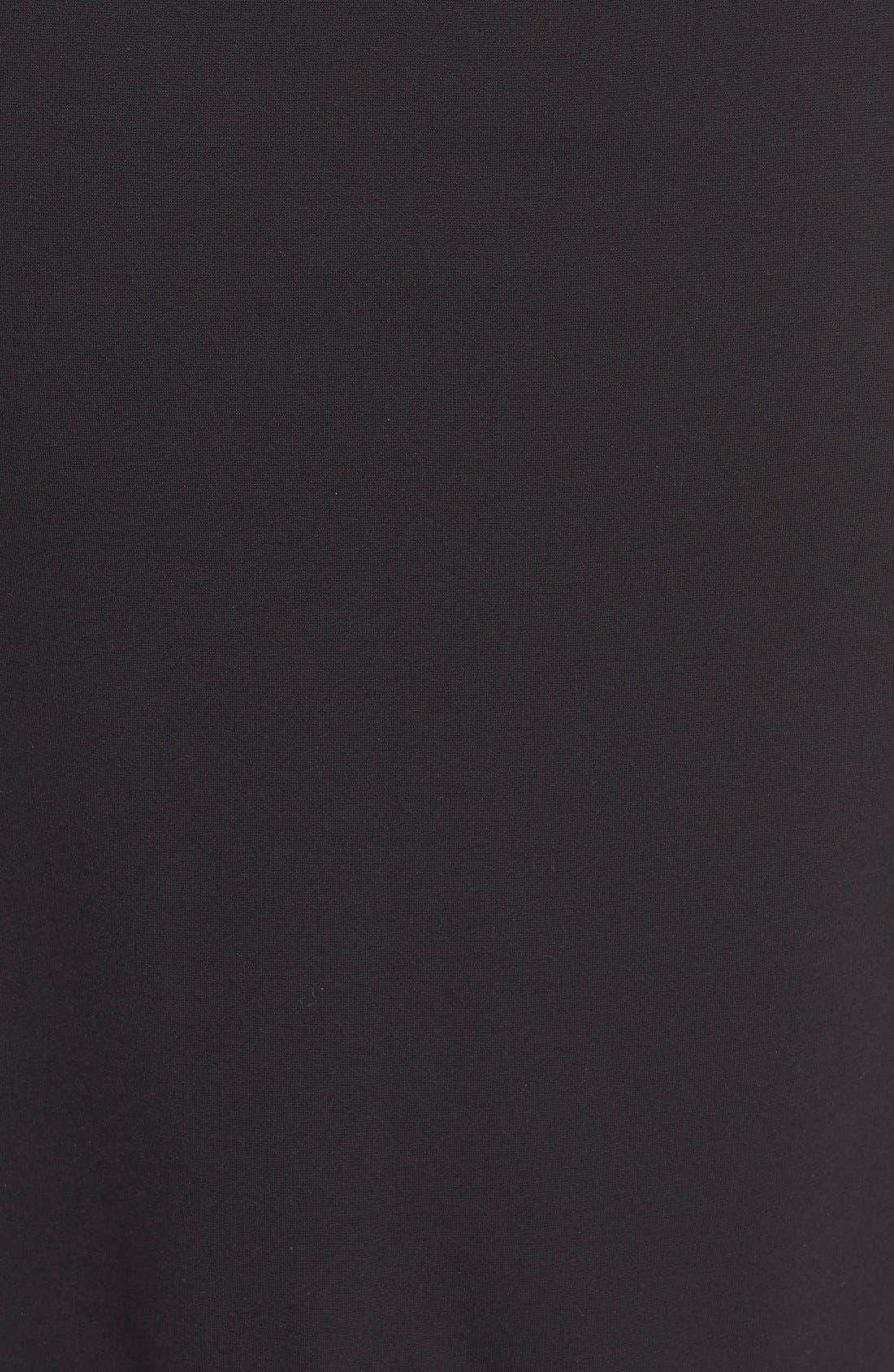 Ponte Knit Skirt,                             Alternate thumbnail 6, color,                             RICH BLACK