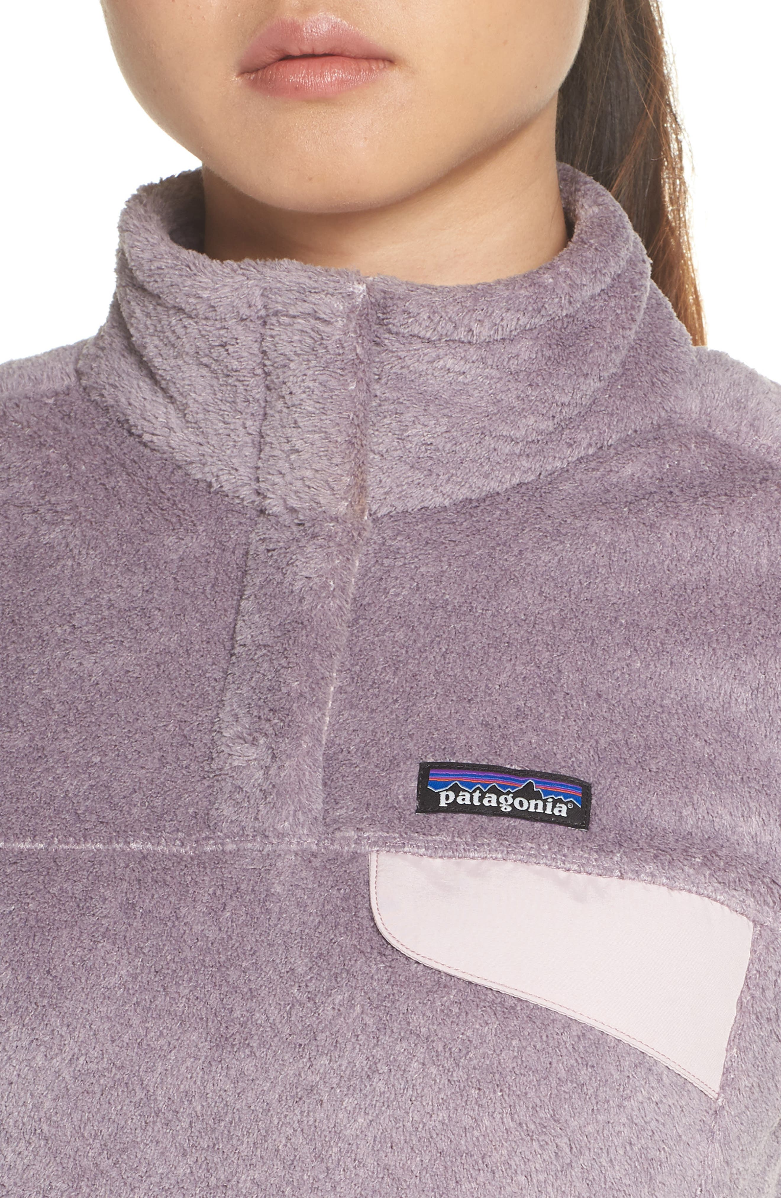 Re-Tool Snap-T<sup>®</sup> Fleece Pullover,                             Alternate thumbnail 4, color,                             SMOKEY VIOLET PURPLE X-DYE