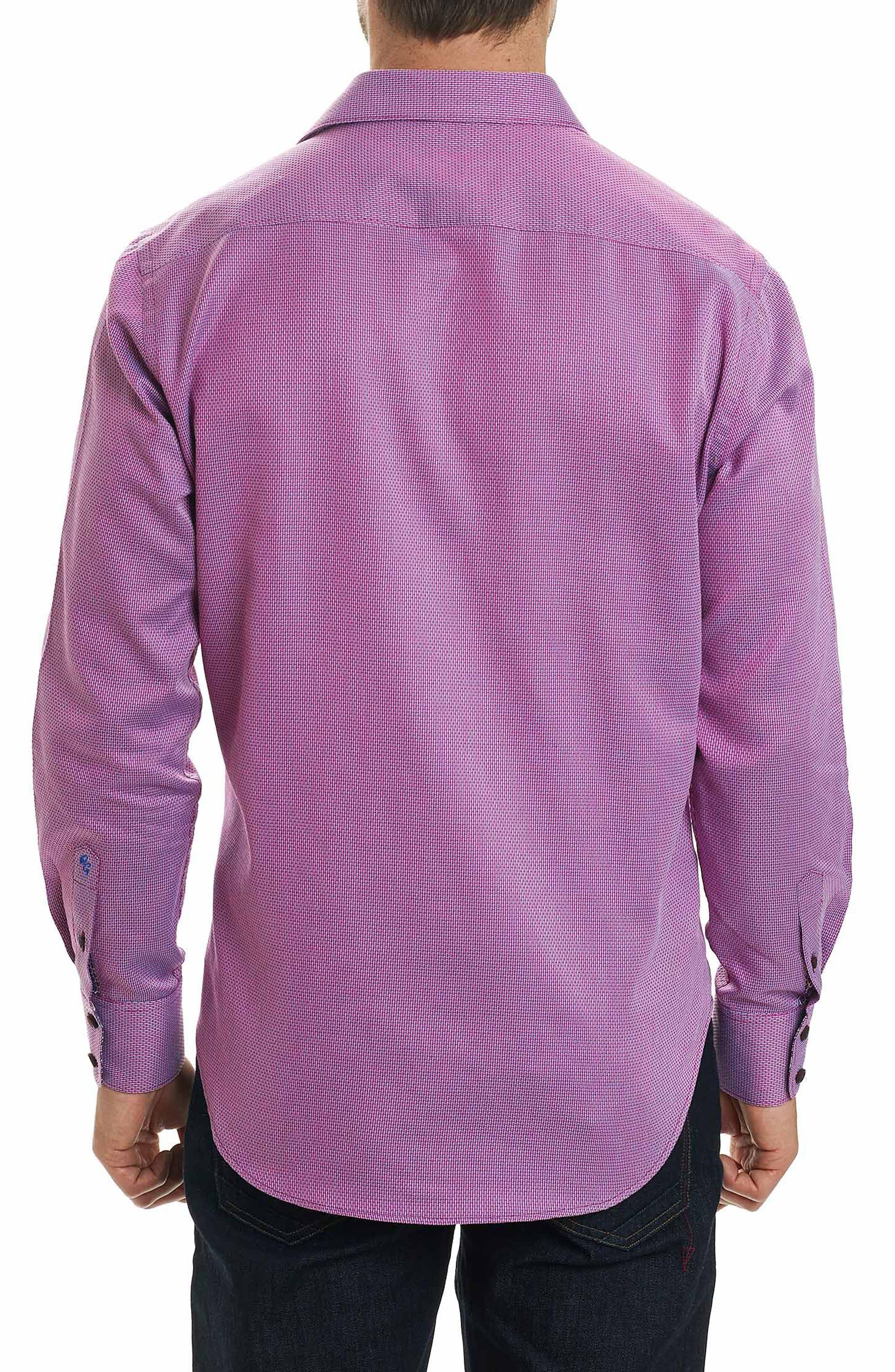 Jobson Regular Fit Sport Shirt,                             Alternate thumbnail 2, color,                             RASPBERRY