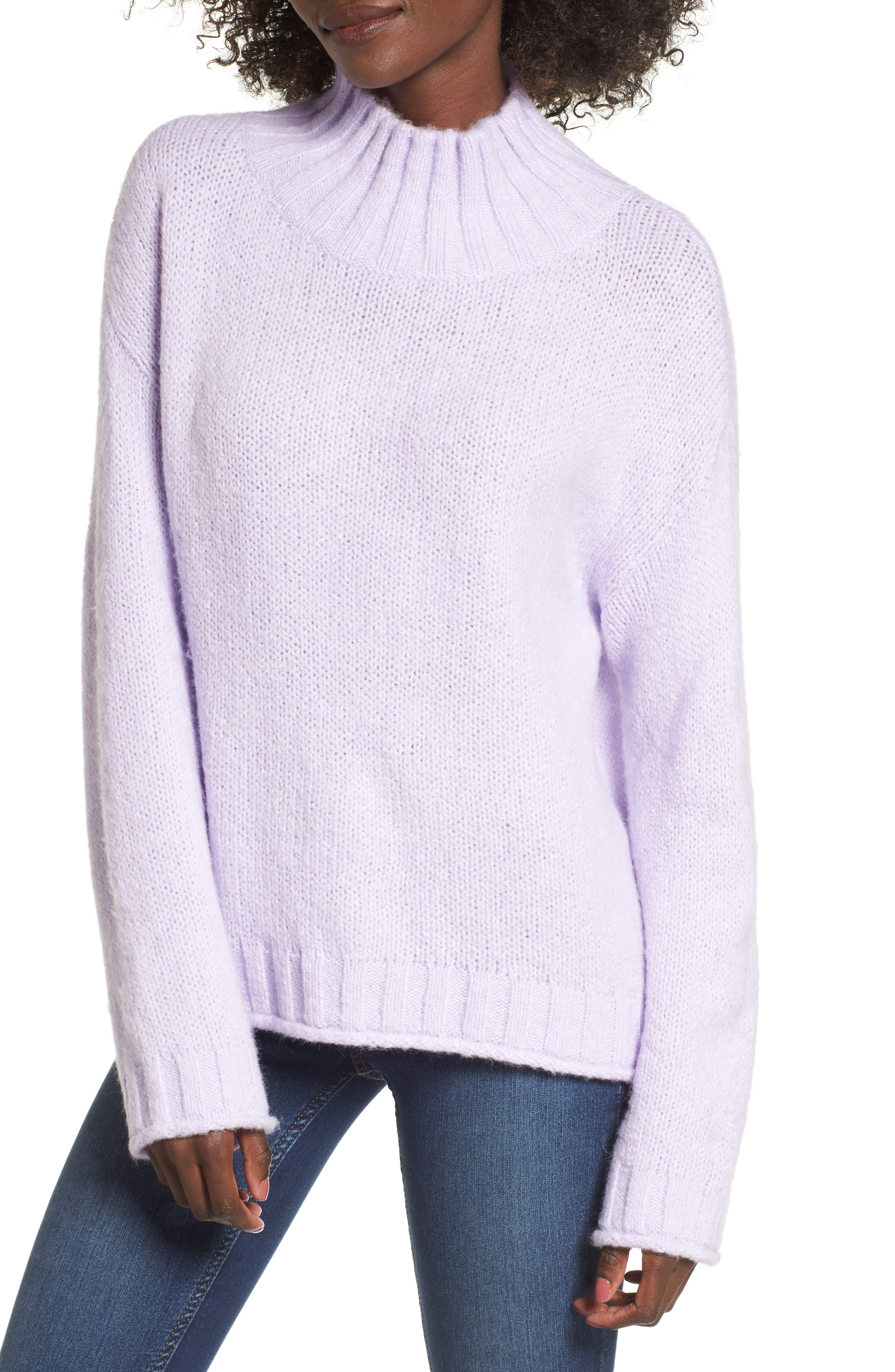 Cozy Mock Neck Sweater,                             Main thumbnail 2, color,