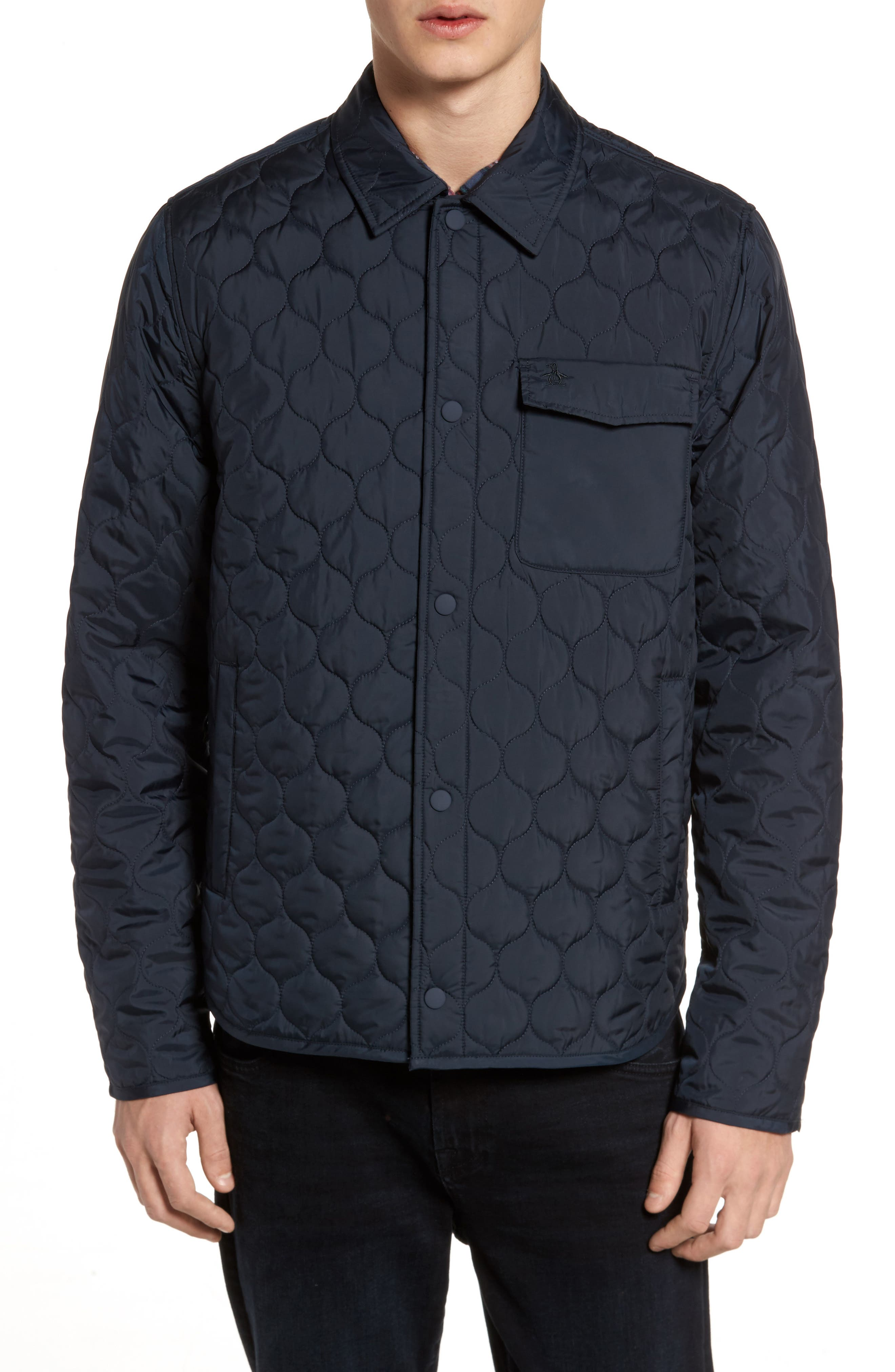 ORIGINAL PENGUIN,                             Lightweight Onion Quilted Jacket,                             Alternate thumbnail 4, color,                             413