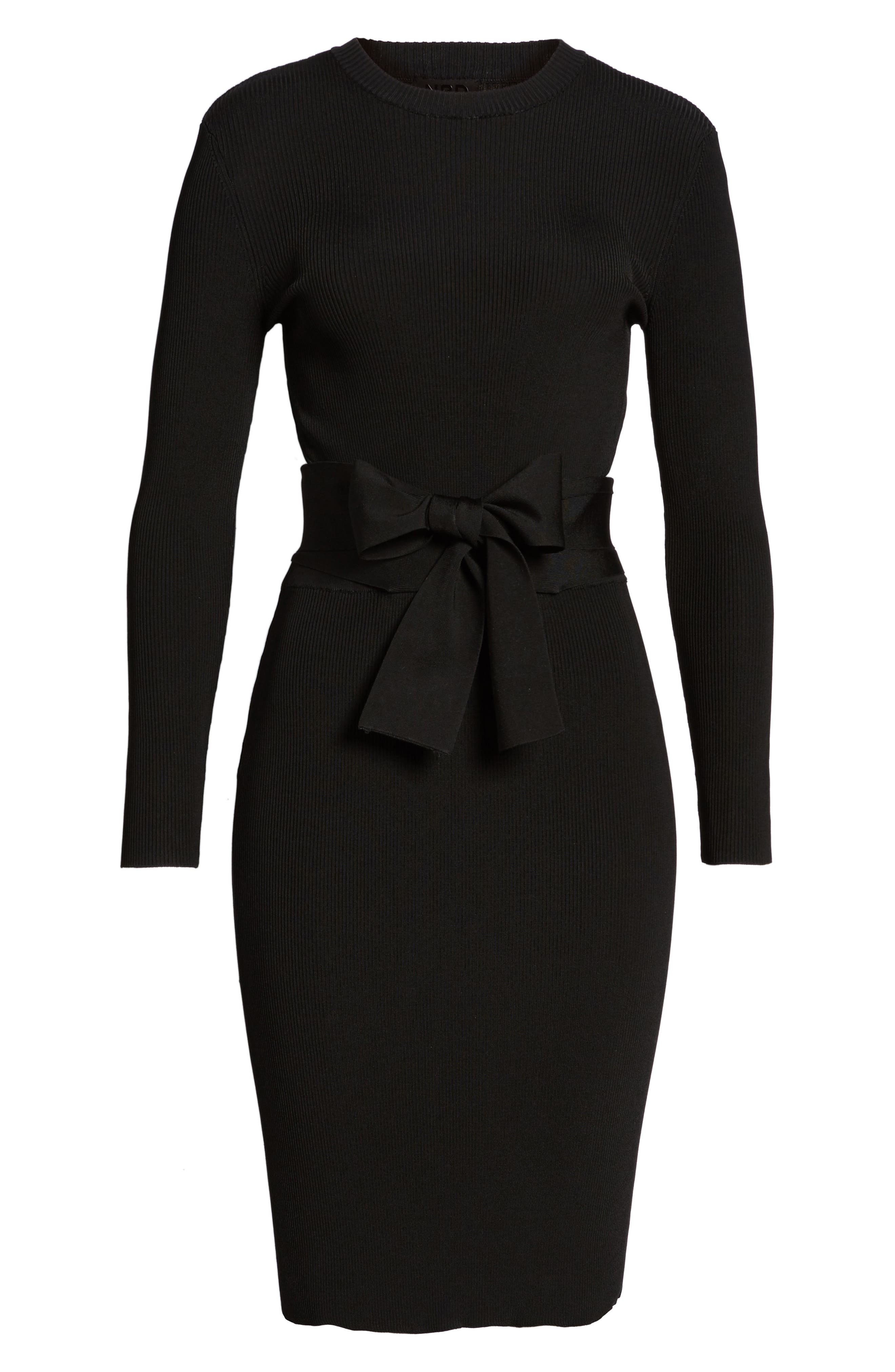 Desiree Cutout Ribbed Body-Con Dress,                             Alternate thumbnail 6, color,                             001