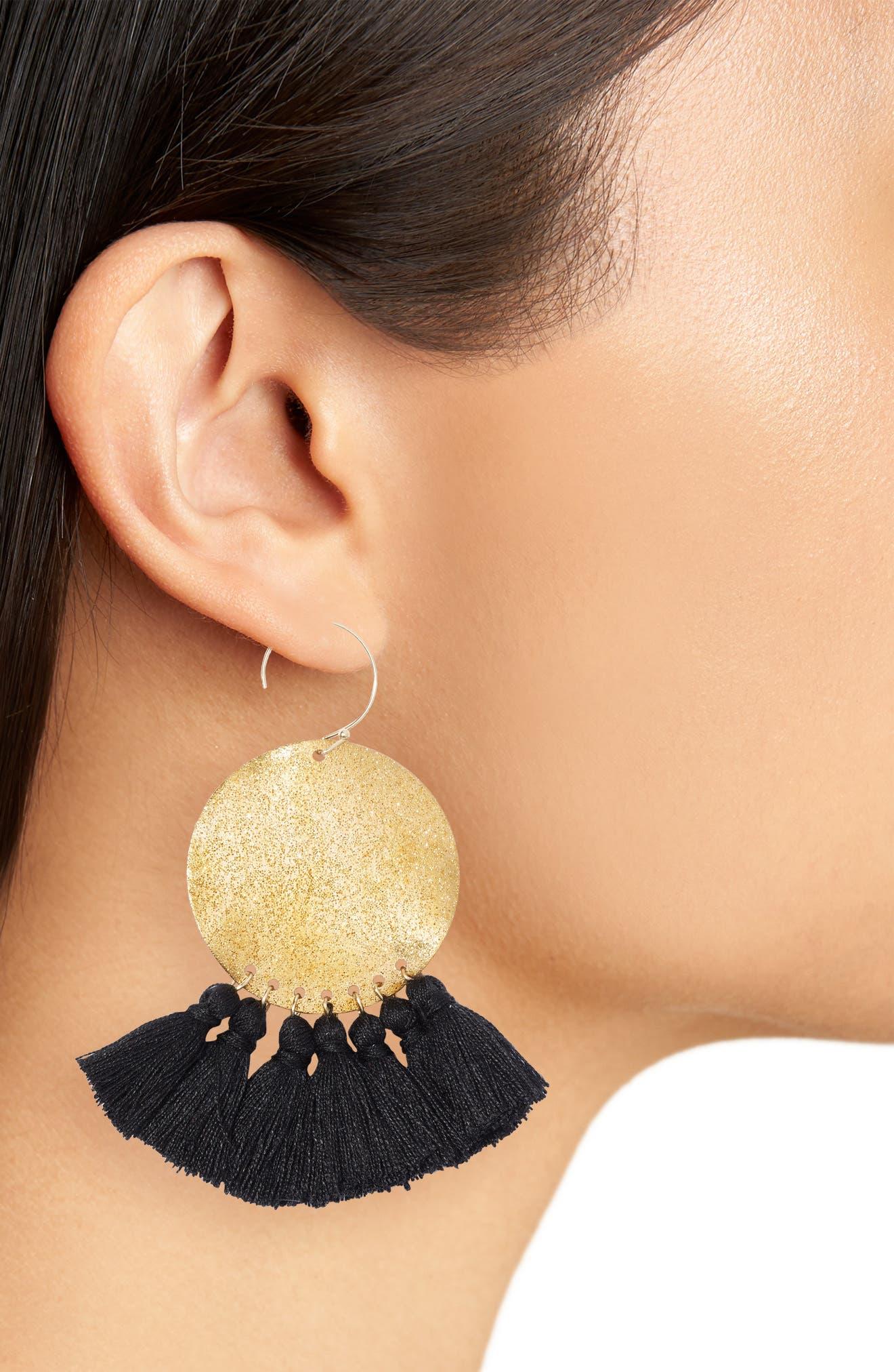 Lunar Tassel Earrings,                             Alternate thumbnail 2, color,                             710