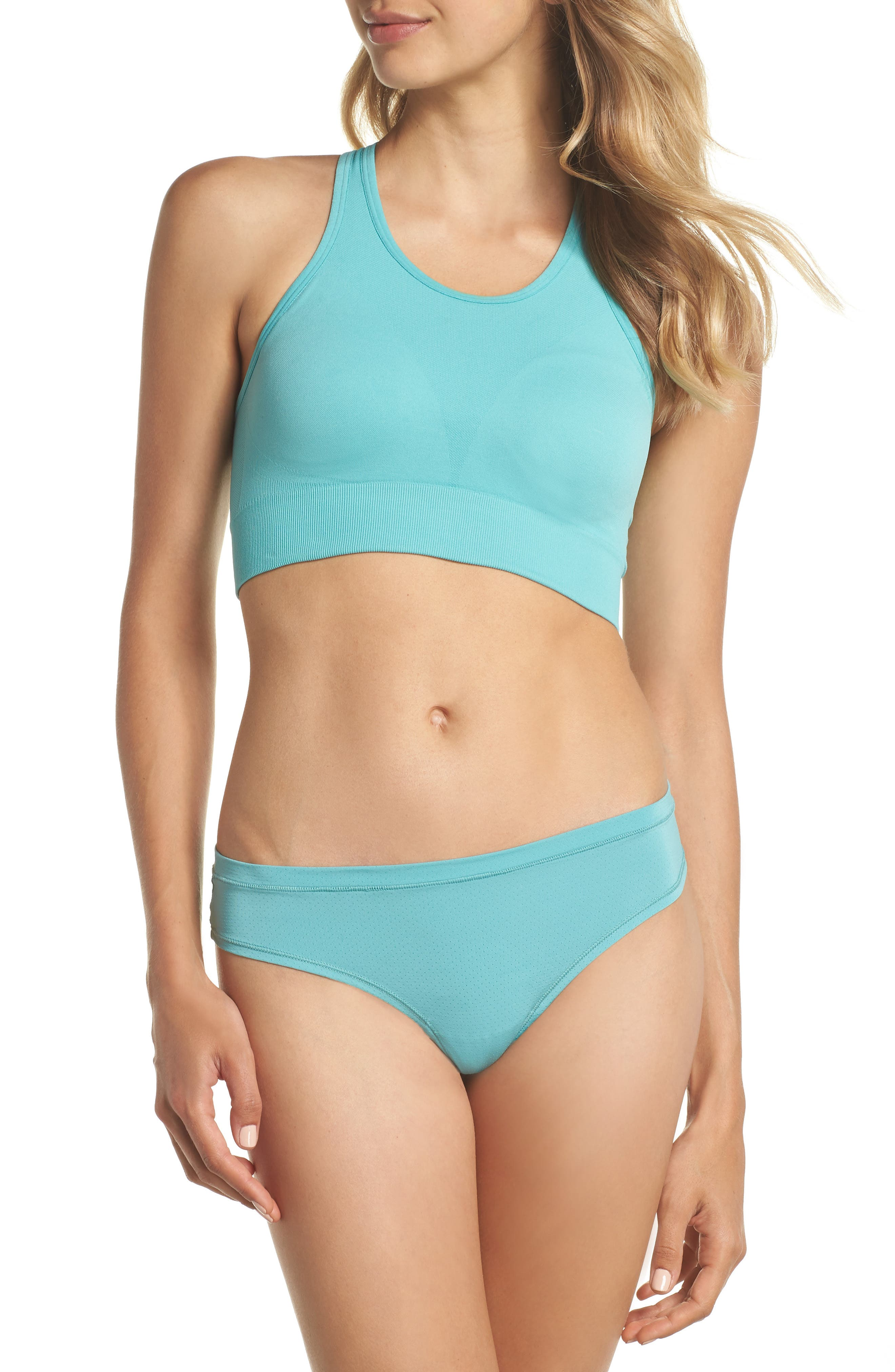 Relay Sports Bra,                             Alternate thumbnail 8, color,                             TEAL MEADOW