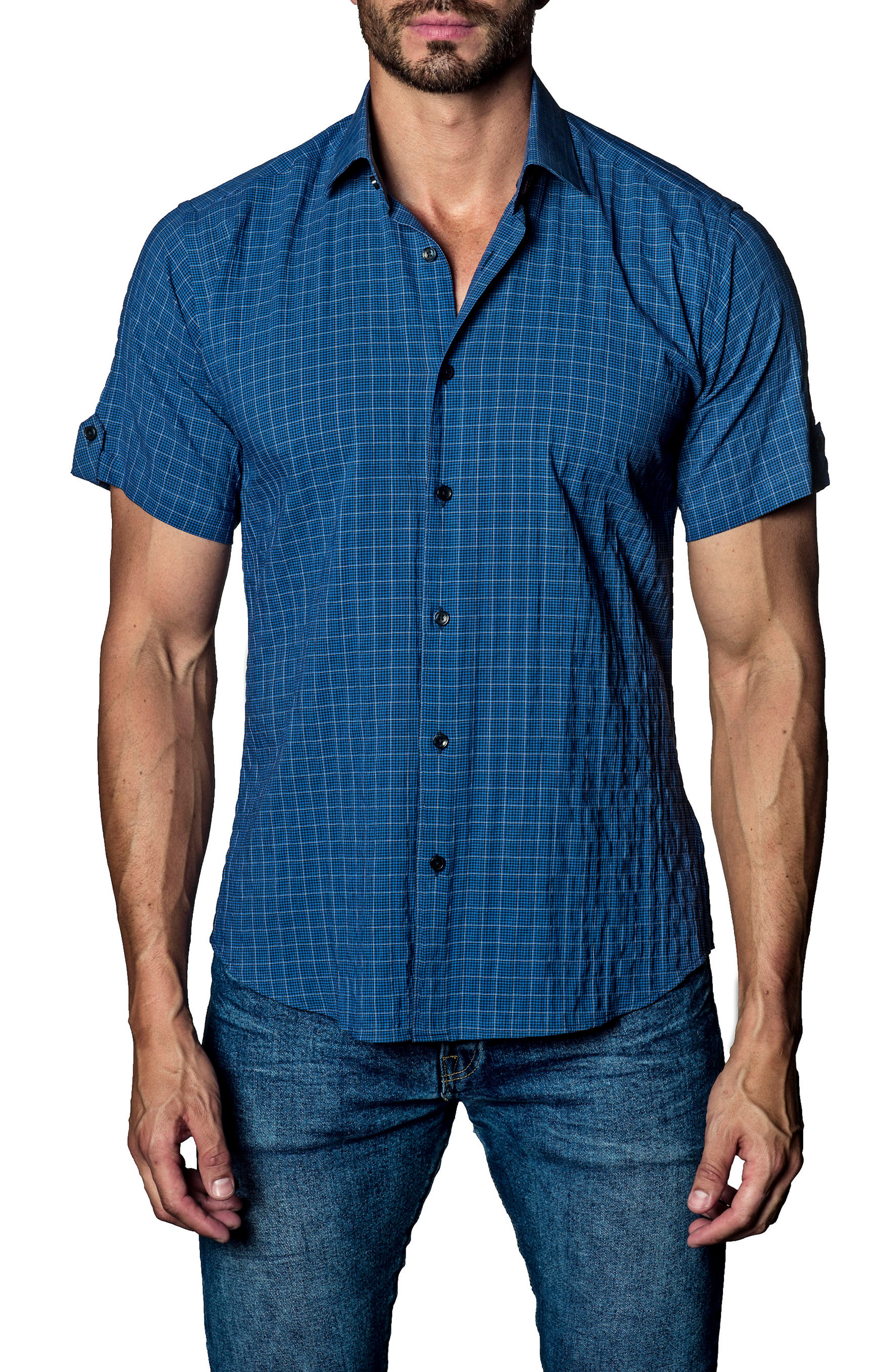 Check Sport Shirt,                         Main,                         color, 470