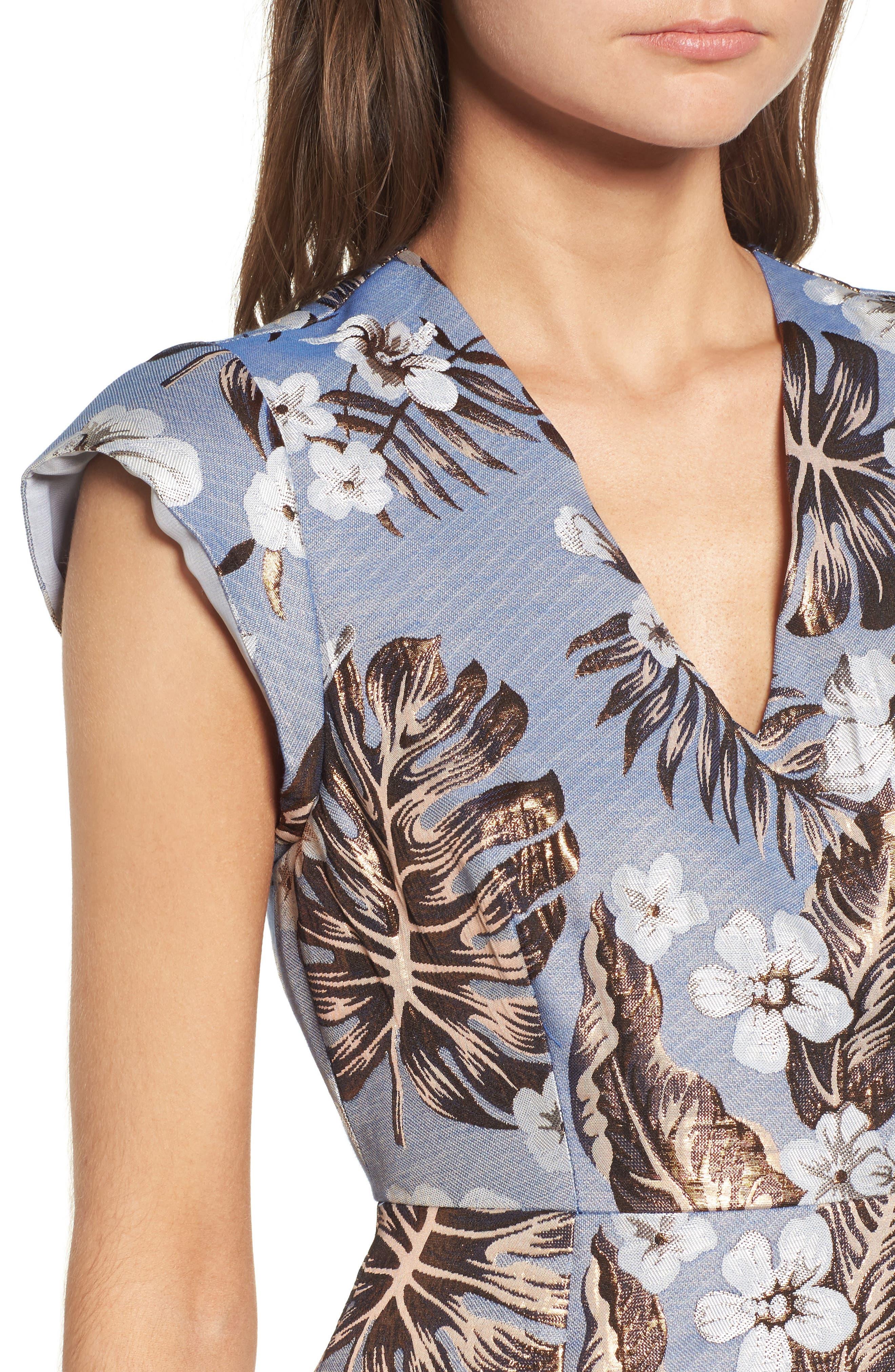 Solaire Sheath Dress,                             Alternate thumbnail 4, color,                             400