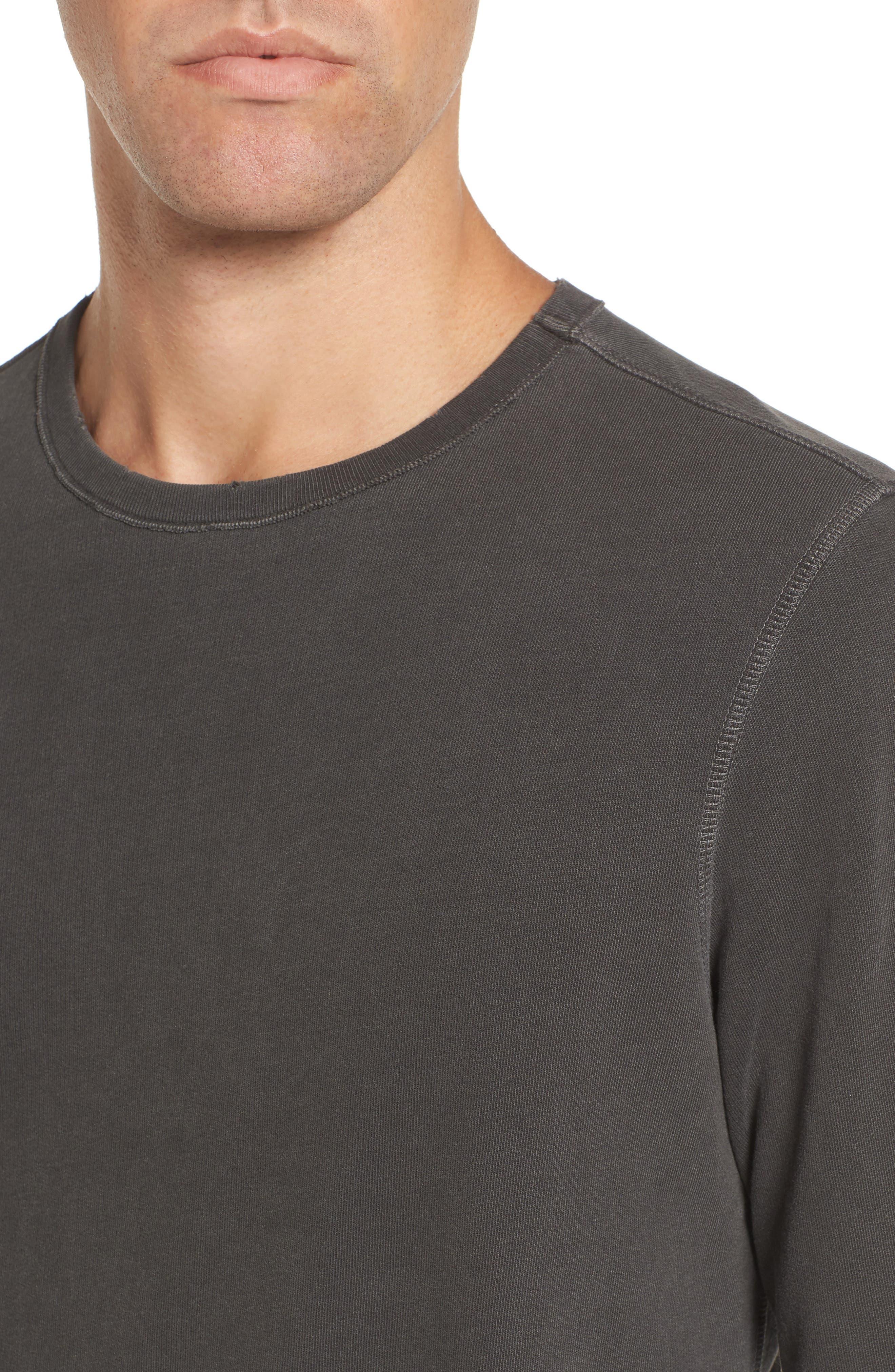 Brendan Raw Edge Crewneck Sweatshirt,                             Alternate thumbnail 4, color,                             001