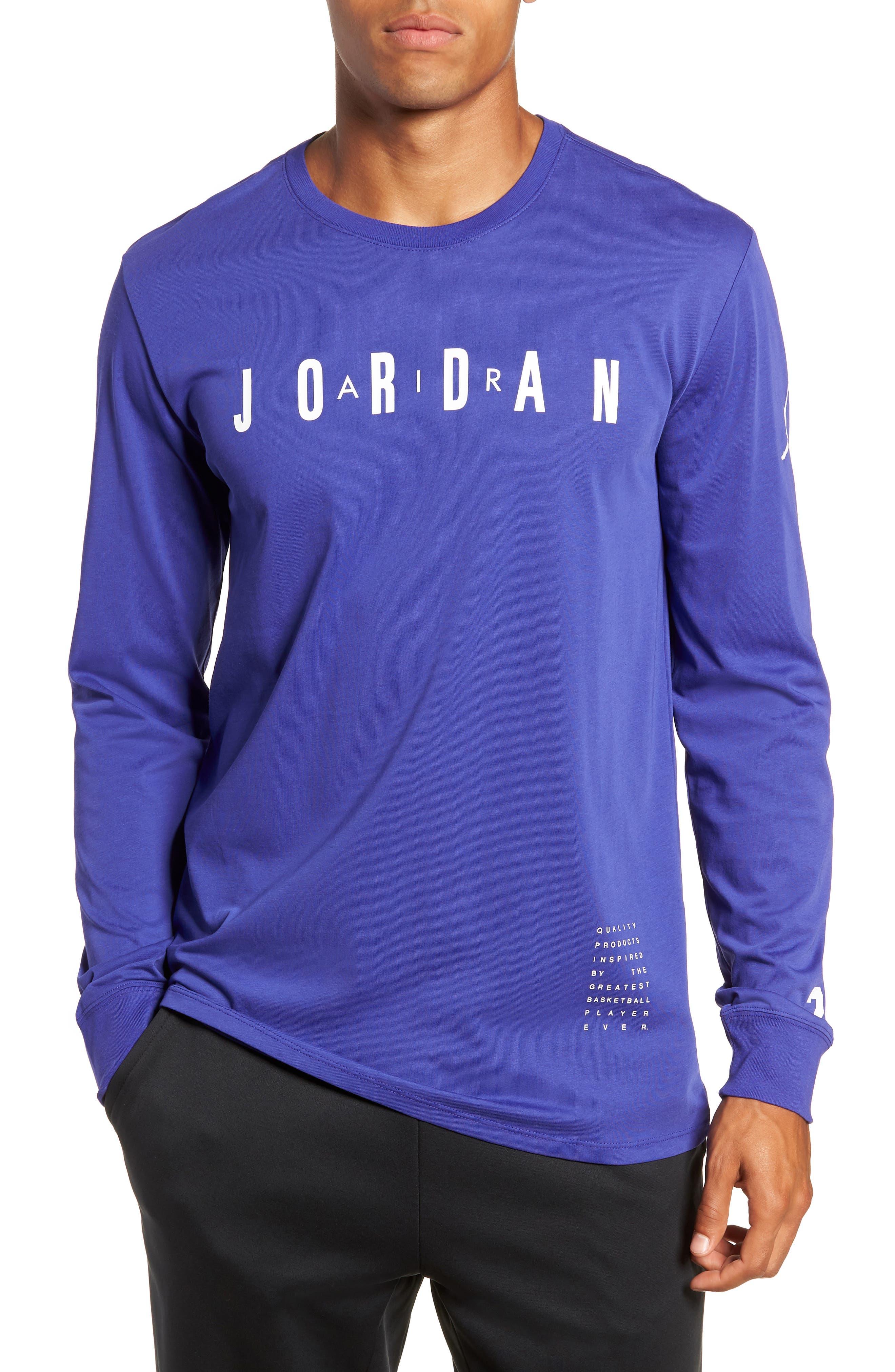 Nike Jordan Basketball T-Shirt, Blue