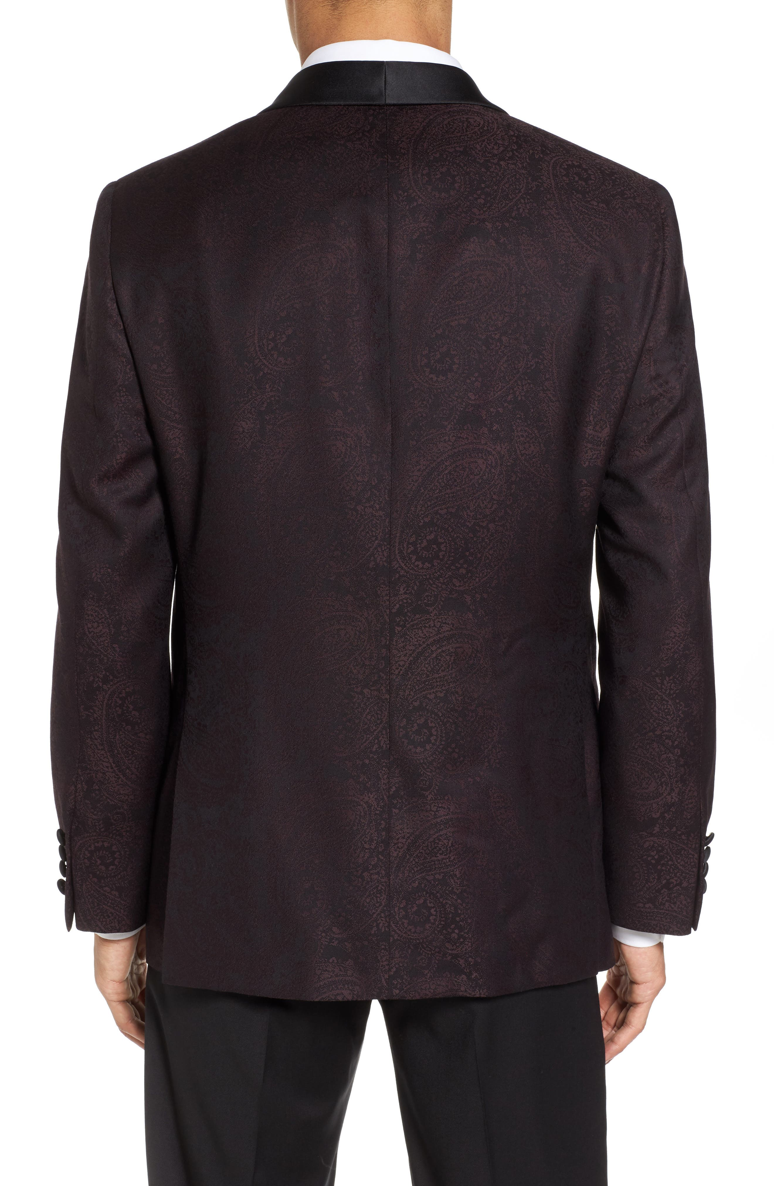 Classic Fit Paisley Wool Dinner Jacket,                             Alternate thumbnail 2, color,                             501