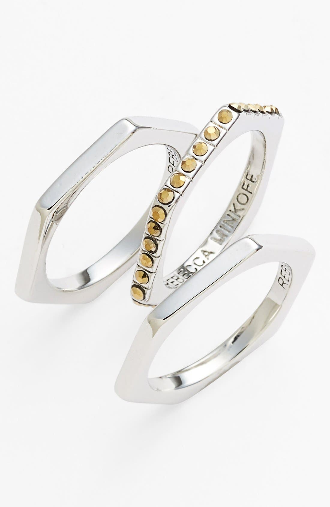 REBECCA MINKOFF,                             Stackable Rings,                             Main thumbnail 1, color,                             200