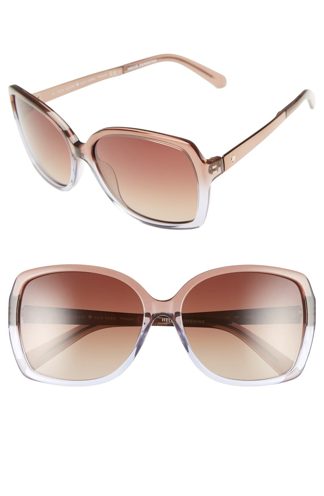 'darilynn' 58mm polarized sunglasses,                             Main thumbnail 3, color,