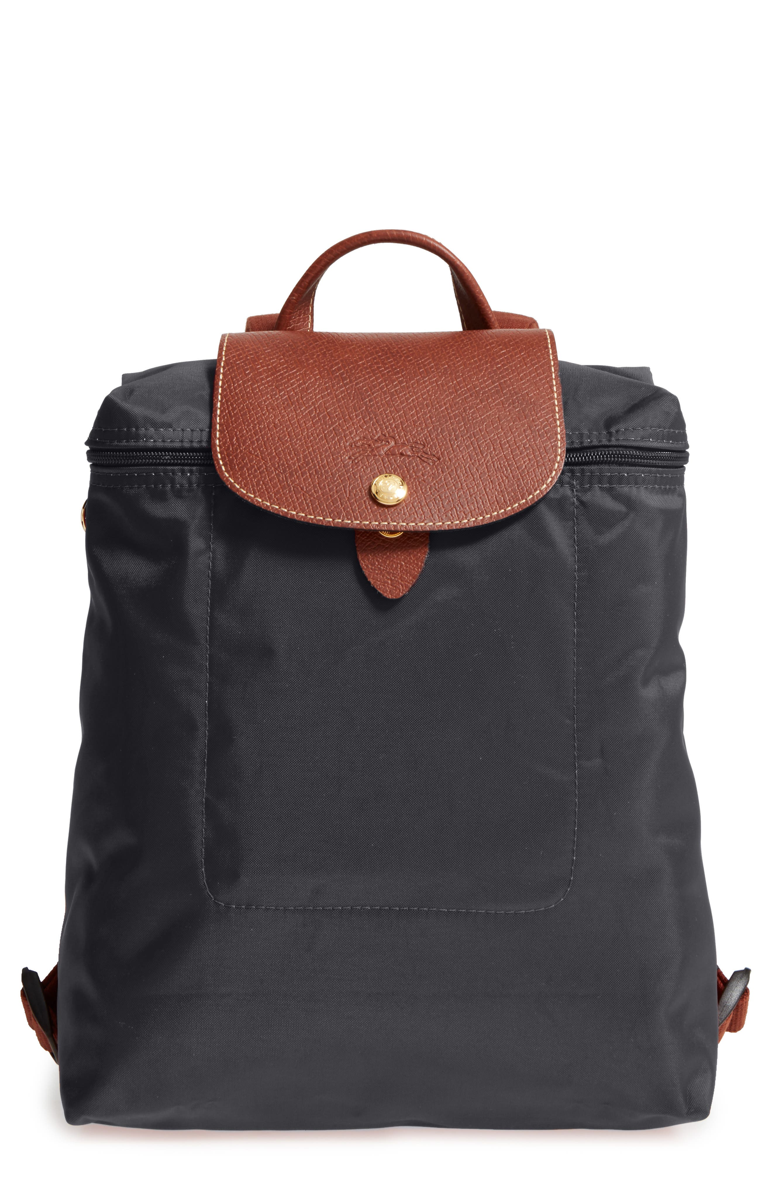 'Le Pliage' Backpack, Main, color, GUNMETAL