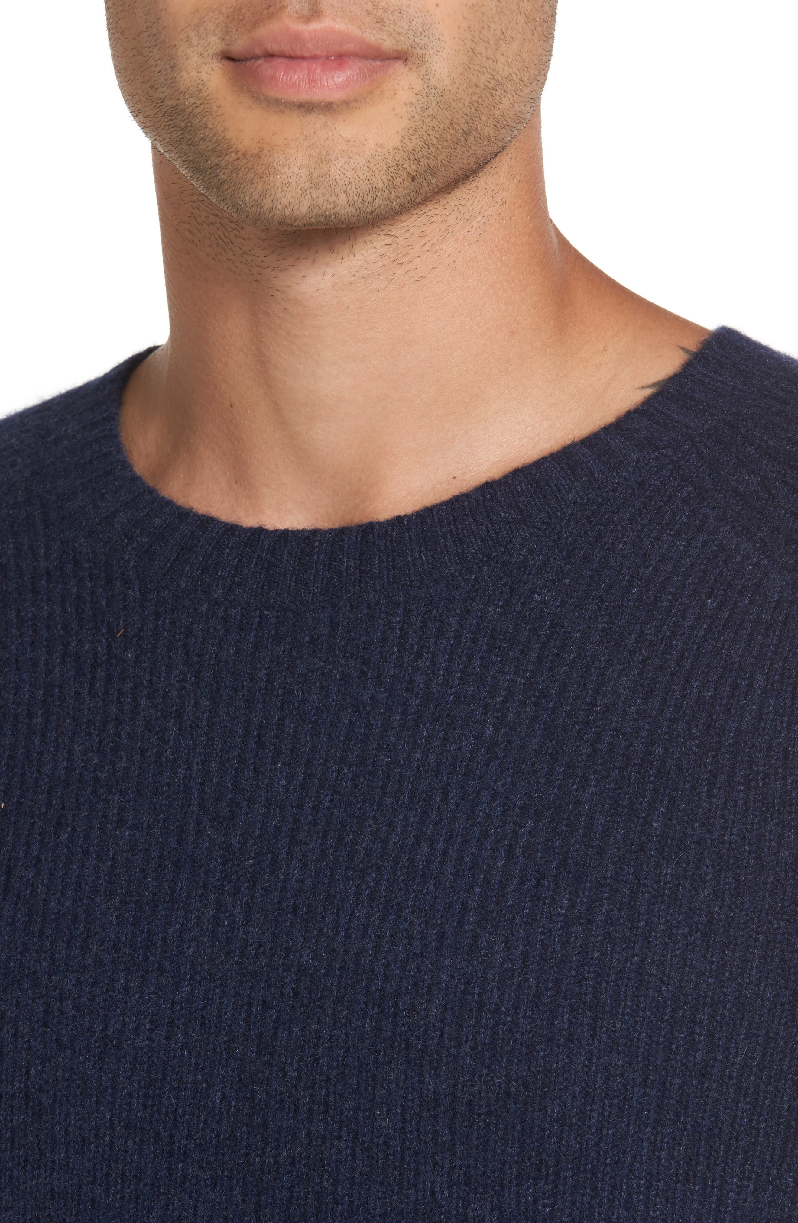 Ribbed Wool & Cashmere Raglan Sweater,                             Alternate thumbnail 15, color,