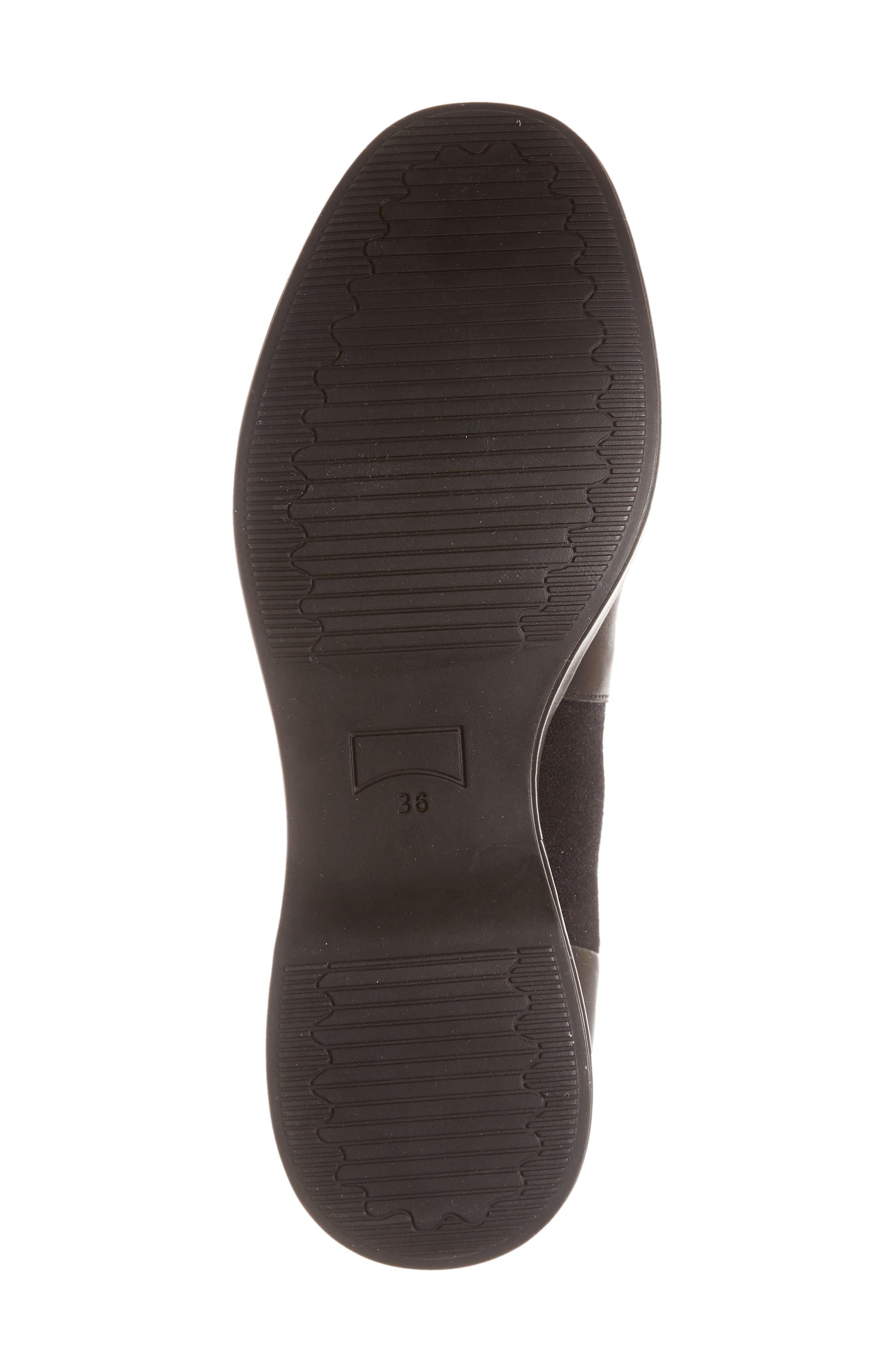 Sisea Platform Wedge Stretch Bootie,                             Alternate thumbnail 6, color,                             BLACK FABRIC