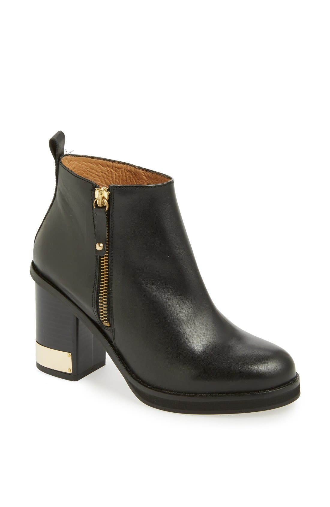 TOPSHOP 'All Ours' Ankle Boot, Main, color, 001