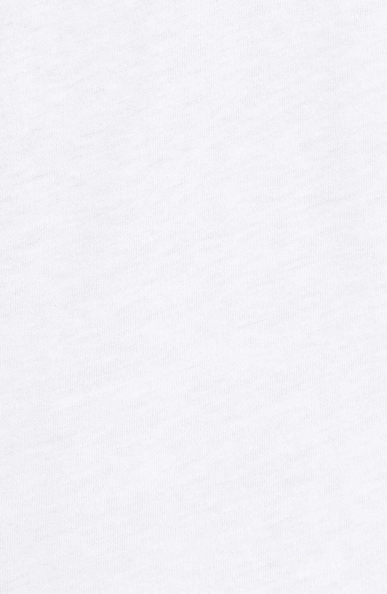 B-Ball Vector Logo T-Shirt,                             Alternate thumbnail 5, color,                             WHITE