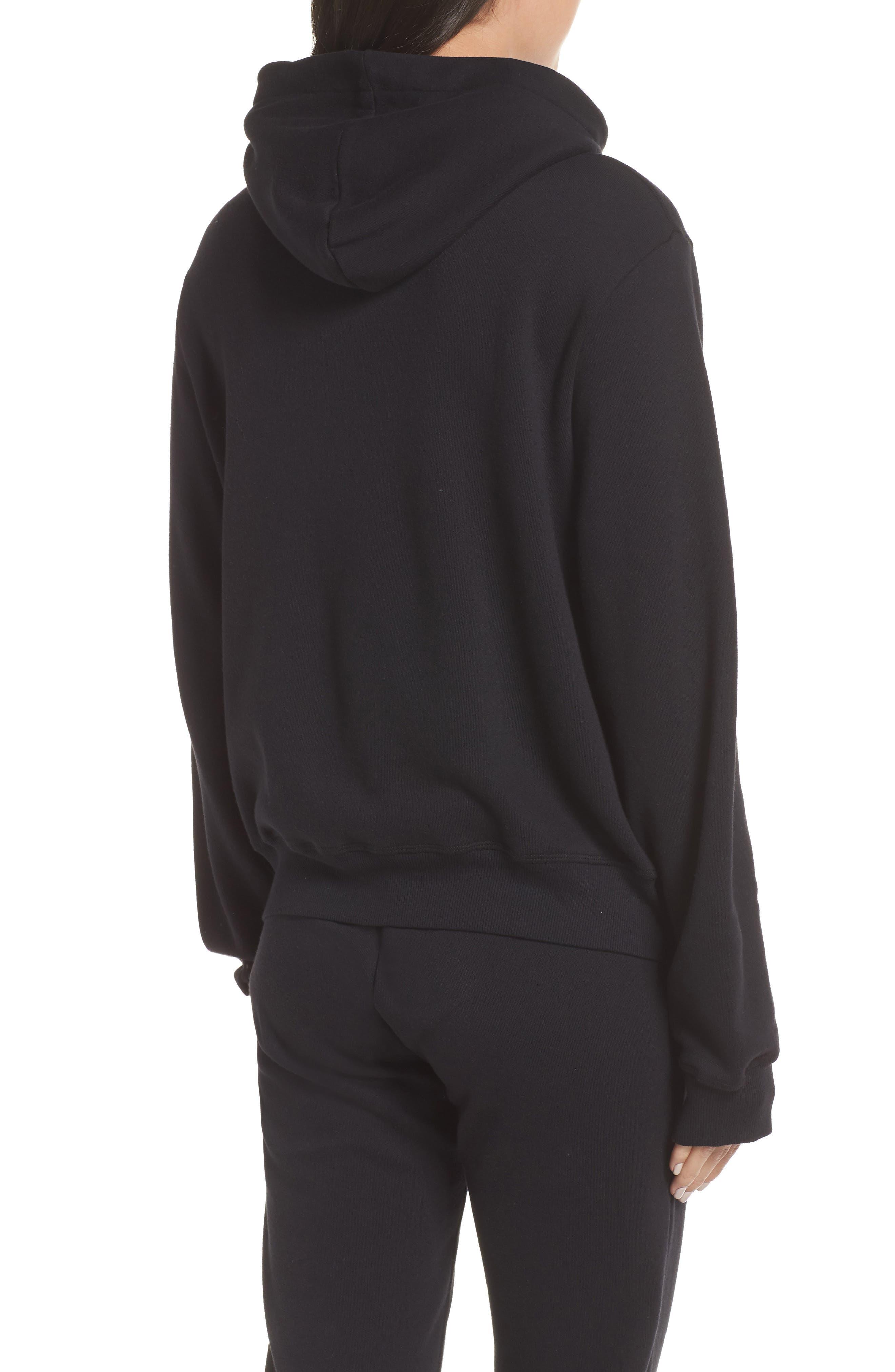 Hoodie Sweatshirt,                             Alternate thumbnail 2, color,                             BLACK