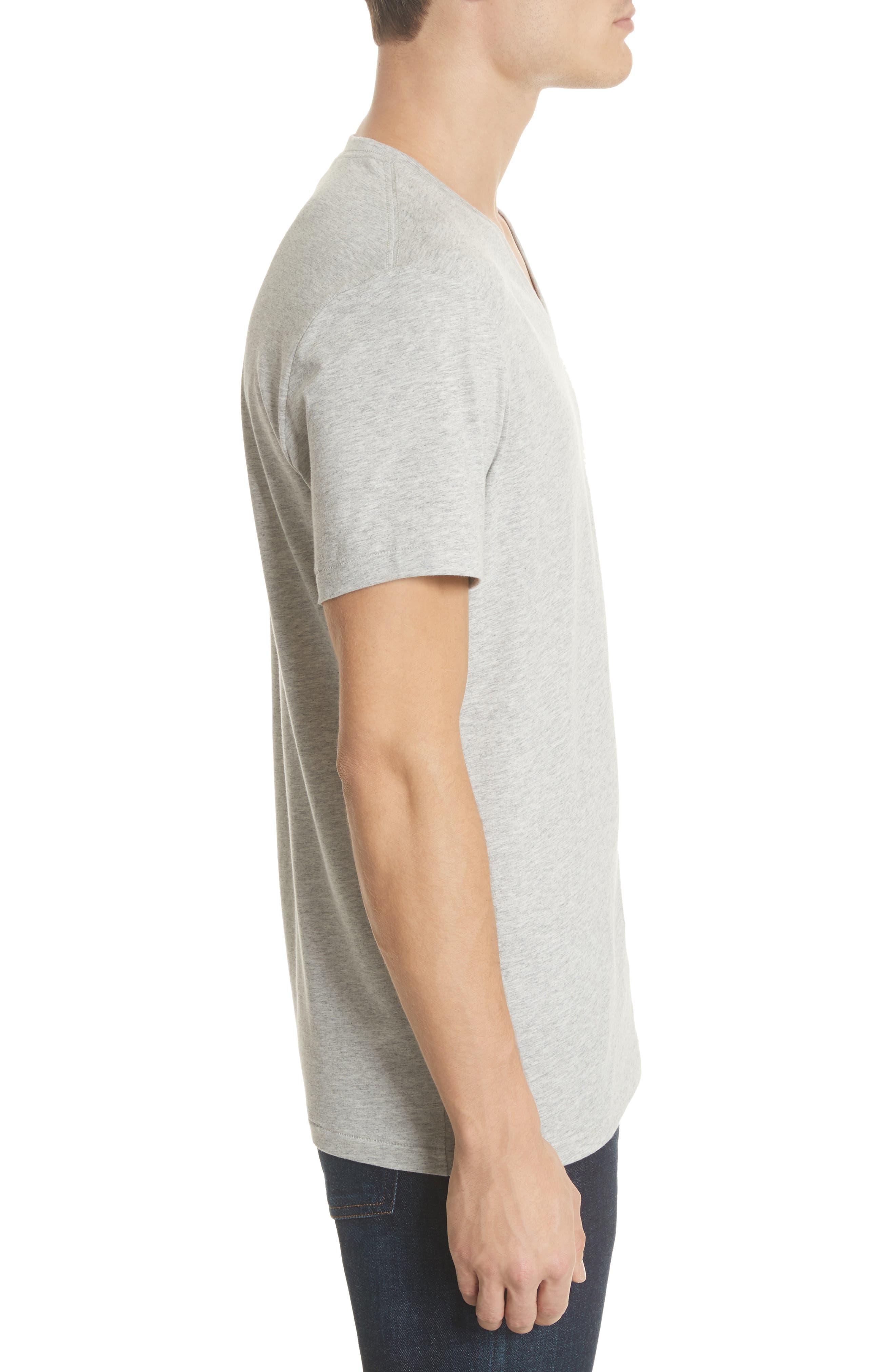 Jadforth V-Neck T-Shirt,                             Alternate thumbnail 3, color,                             PALE GREY MELANGE
