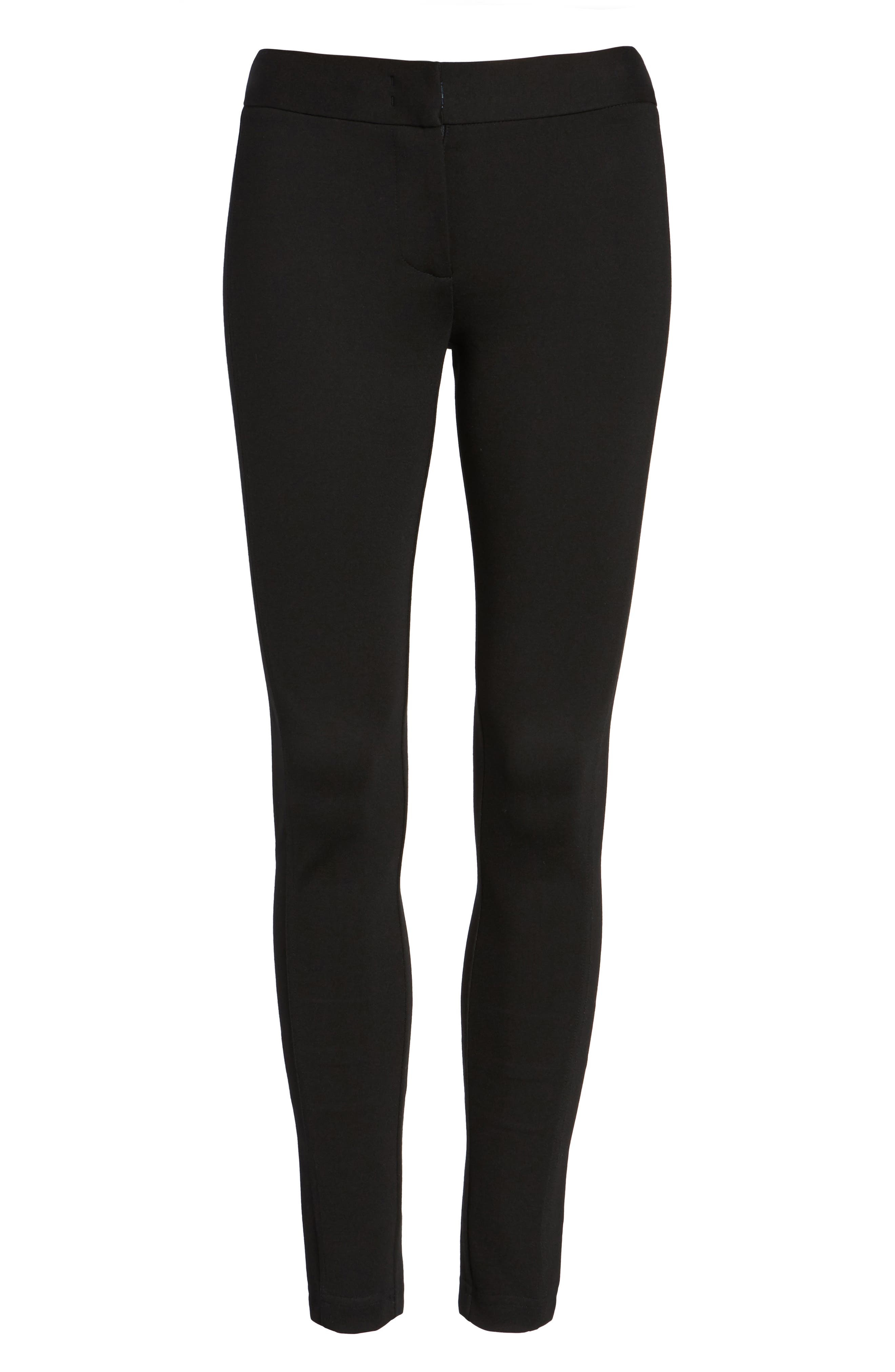 Armani Collezioni Double Face Jersey Leggings,                             Main thumbnail 1, color,                             004