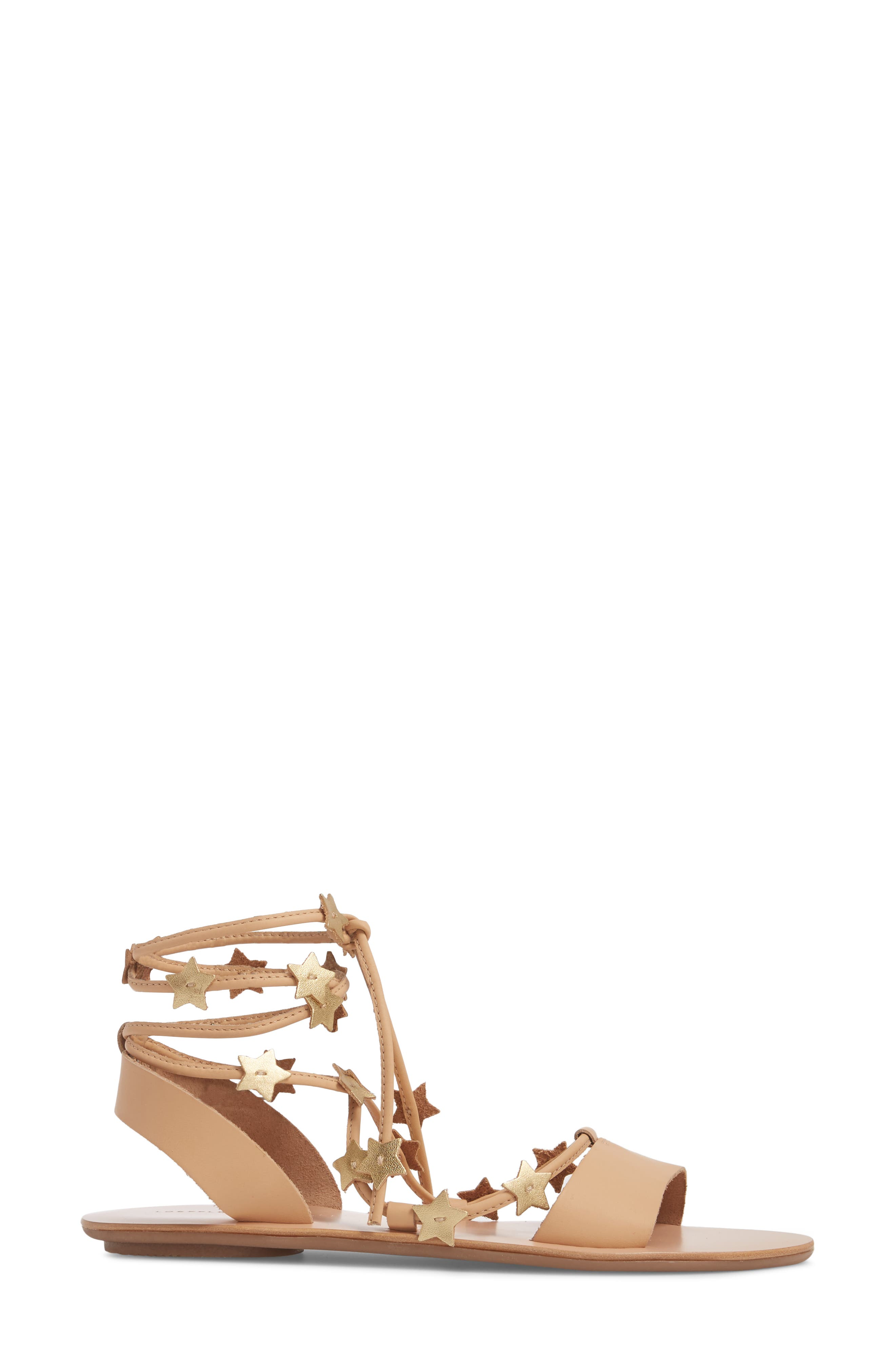 Starla Ankle Wrap Sandal,                             Alternate thumbnail 3, color,                             WHEAT