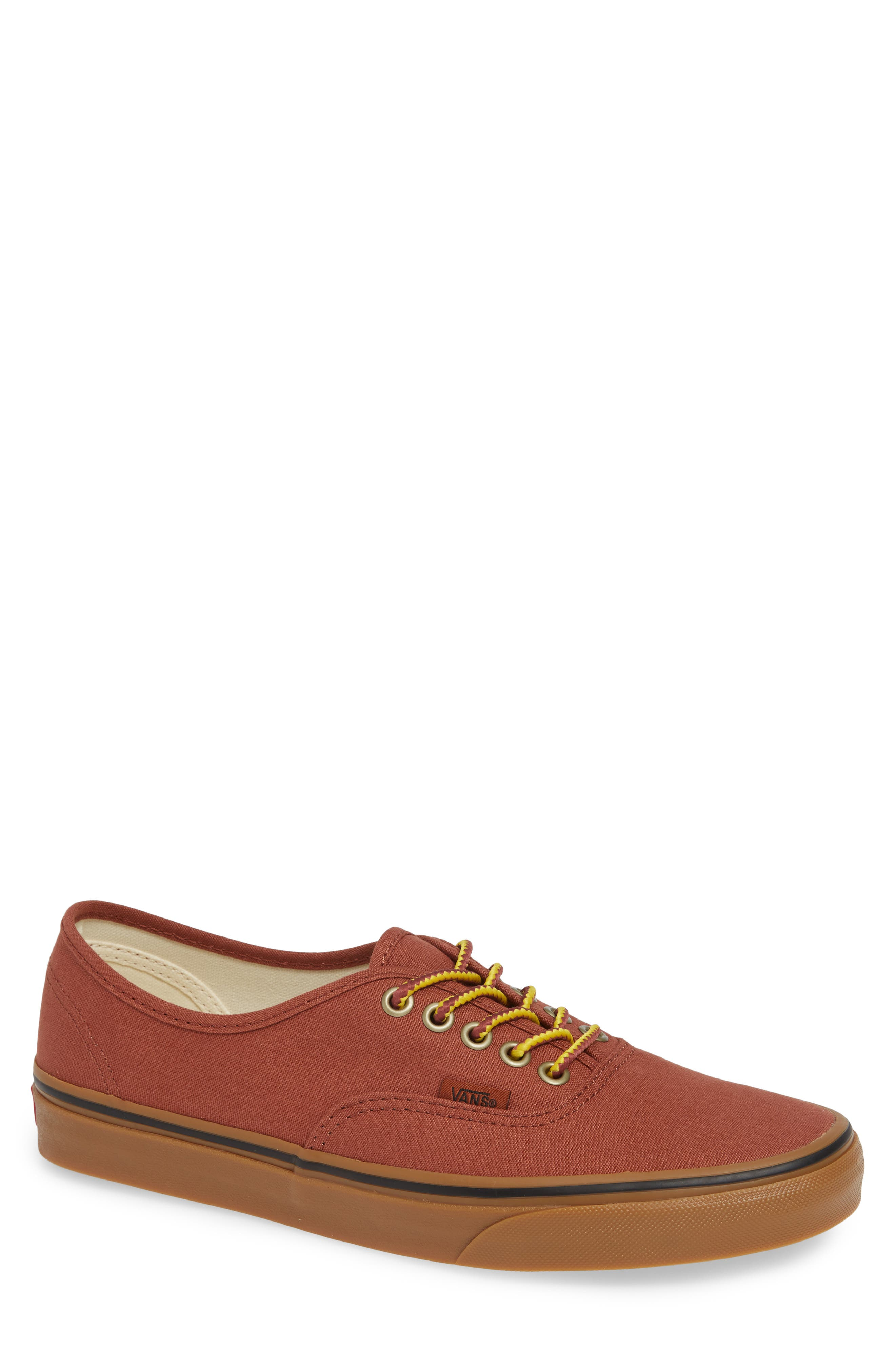 Authentic Sneaker,                         Main,                         color, SEQUOIA/ BROWN