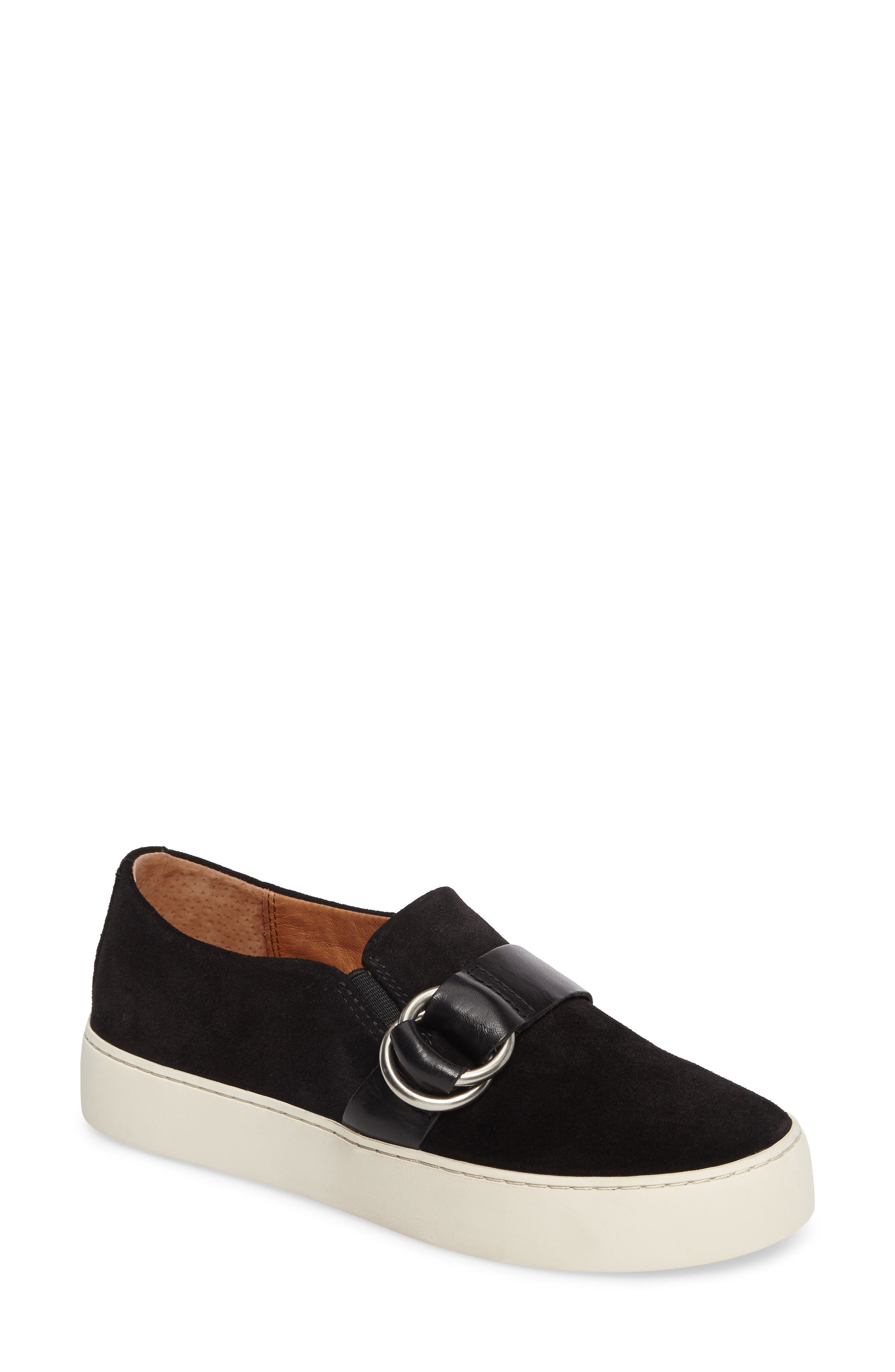 Lena Harness Slip-On Sneaker,                             Main thumbnail 1, color,                             001