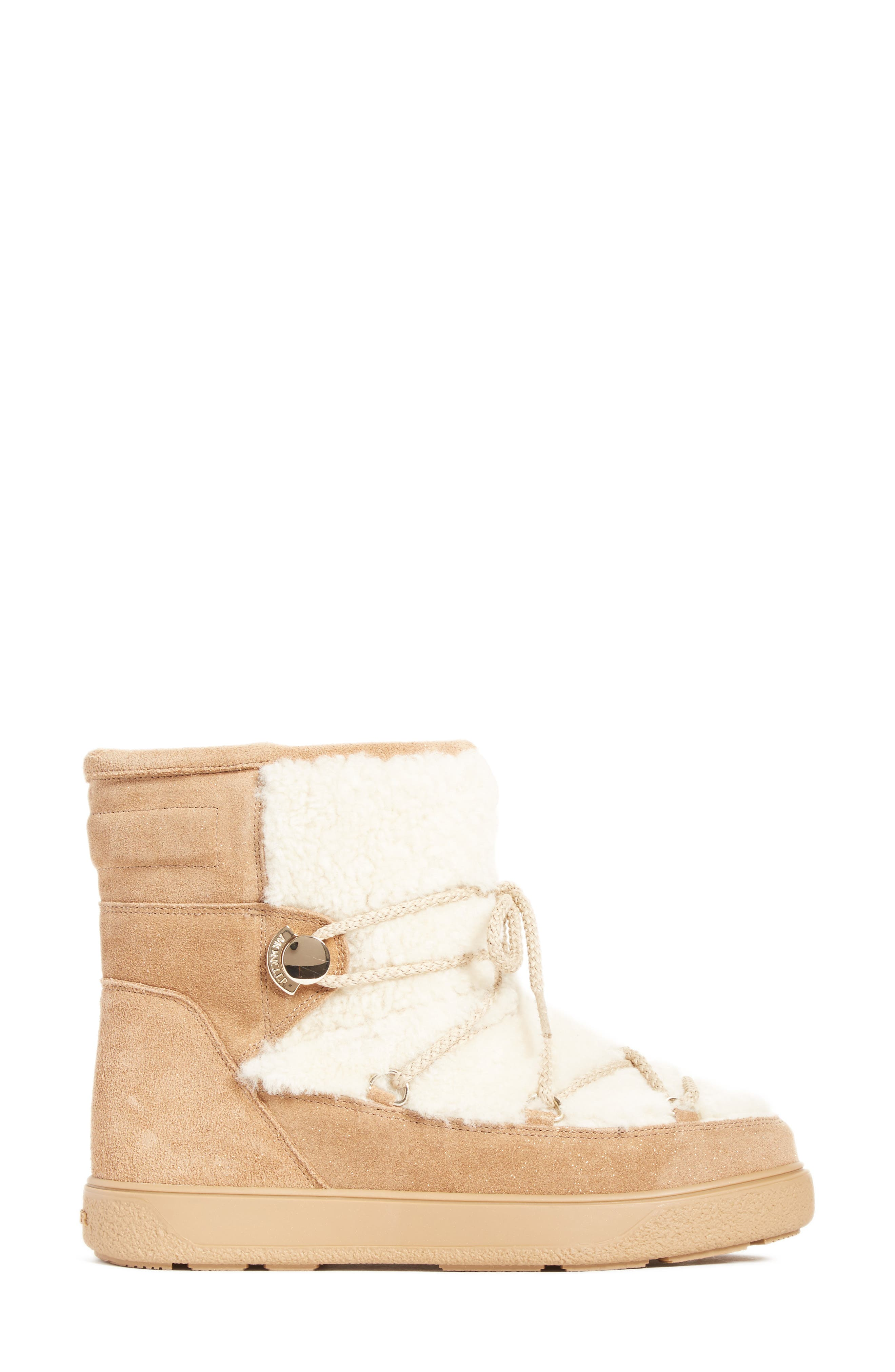 New Fanny Stivale Genuine Shearling Short Moon Boots,                             Alternate thumbnail 3, color,