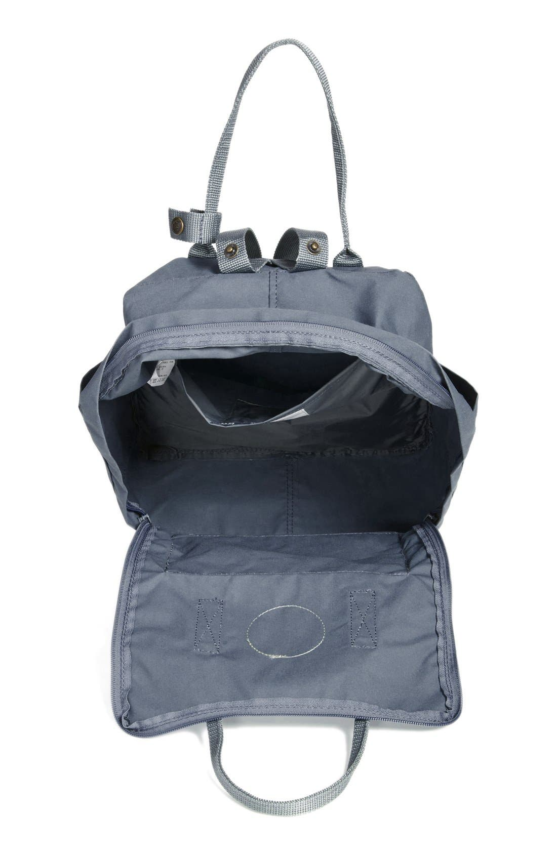 FJÄLLRÄVEN,                             Kånken Water Resistant Backpack,                             Alternate thumbnail 9, color,                             GRAPHITE