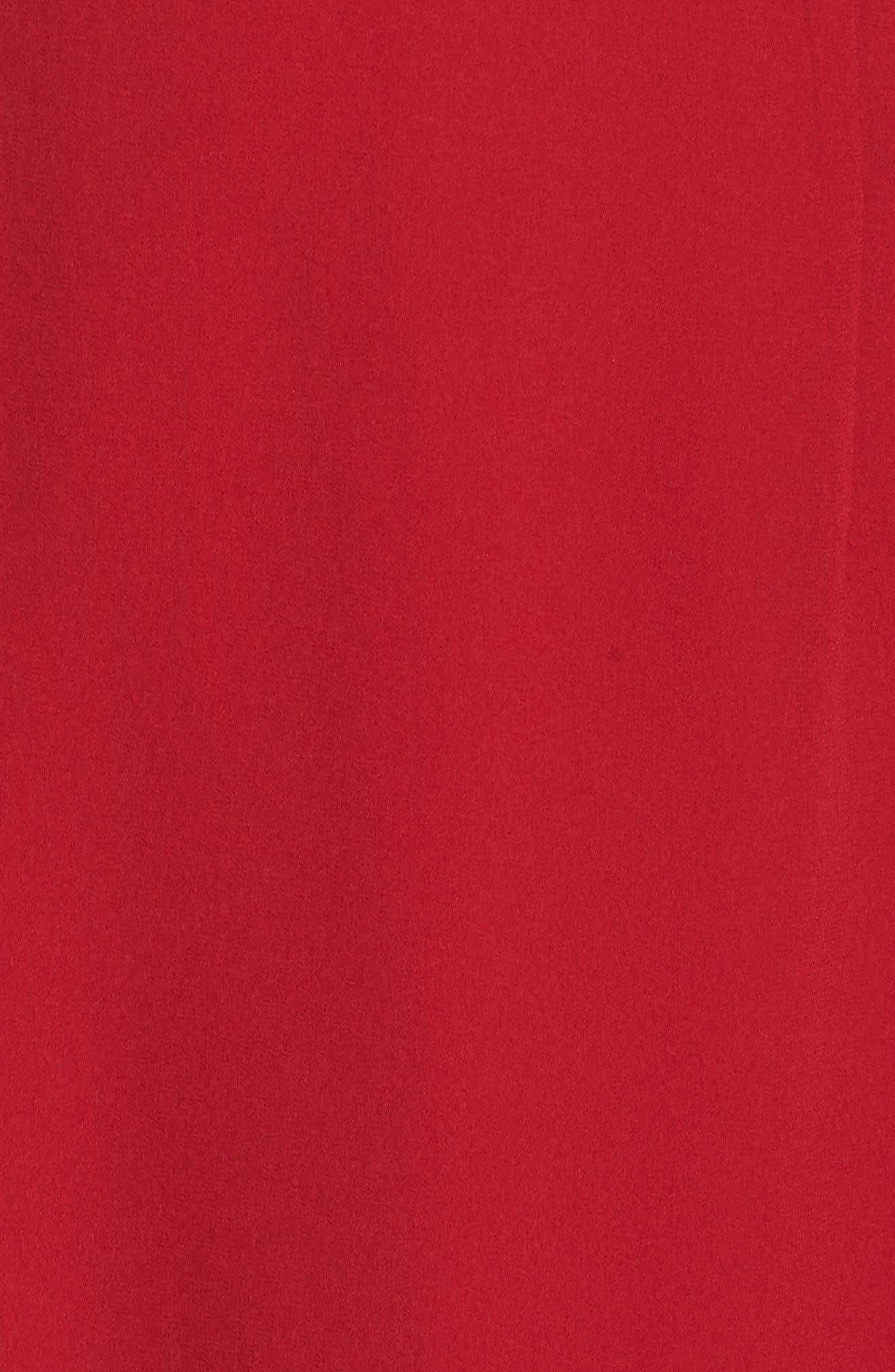 Pleat Sleeve & Ruffle Hem Dress,                             Alternate thumbnail 6, color,                             RED JESTER