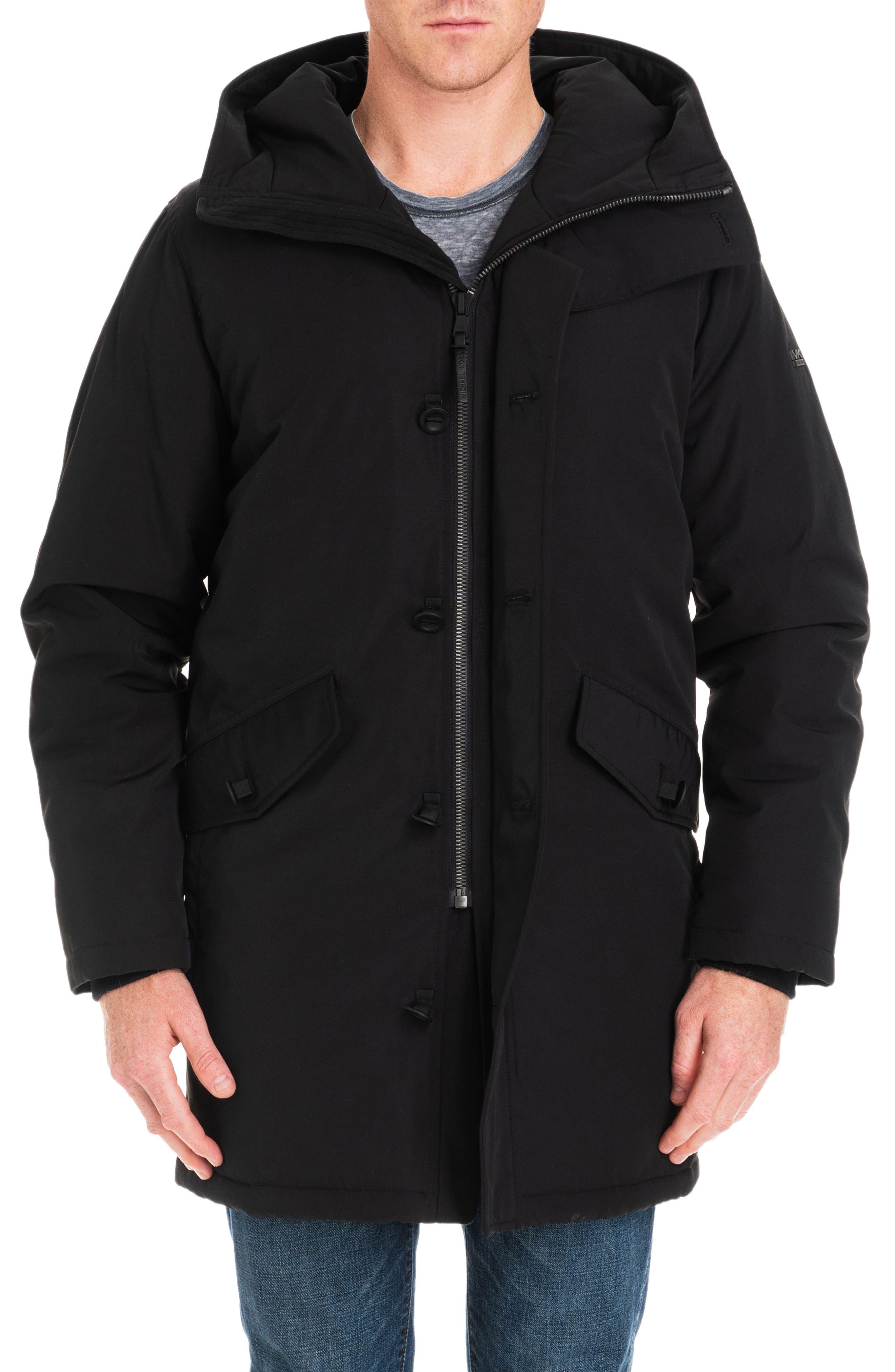 Gardiner Water Resistant Snorkel Coat,                             Alternate thumbnail 6, color,                             BLACK/ MIDNIGHT